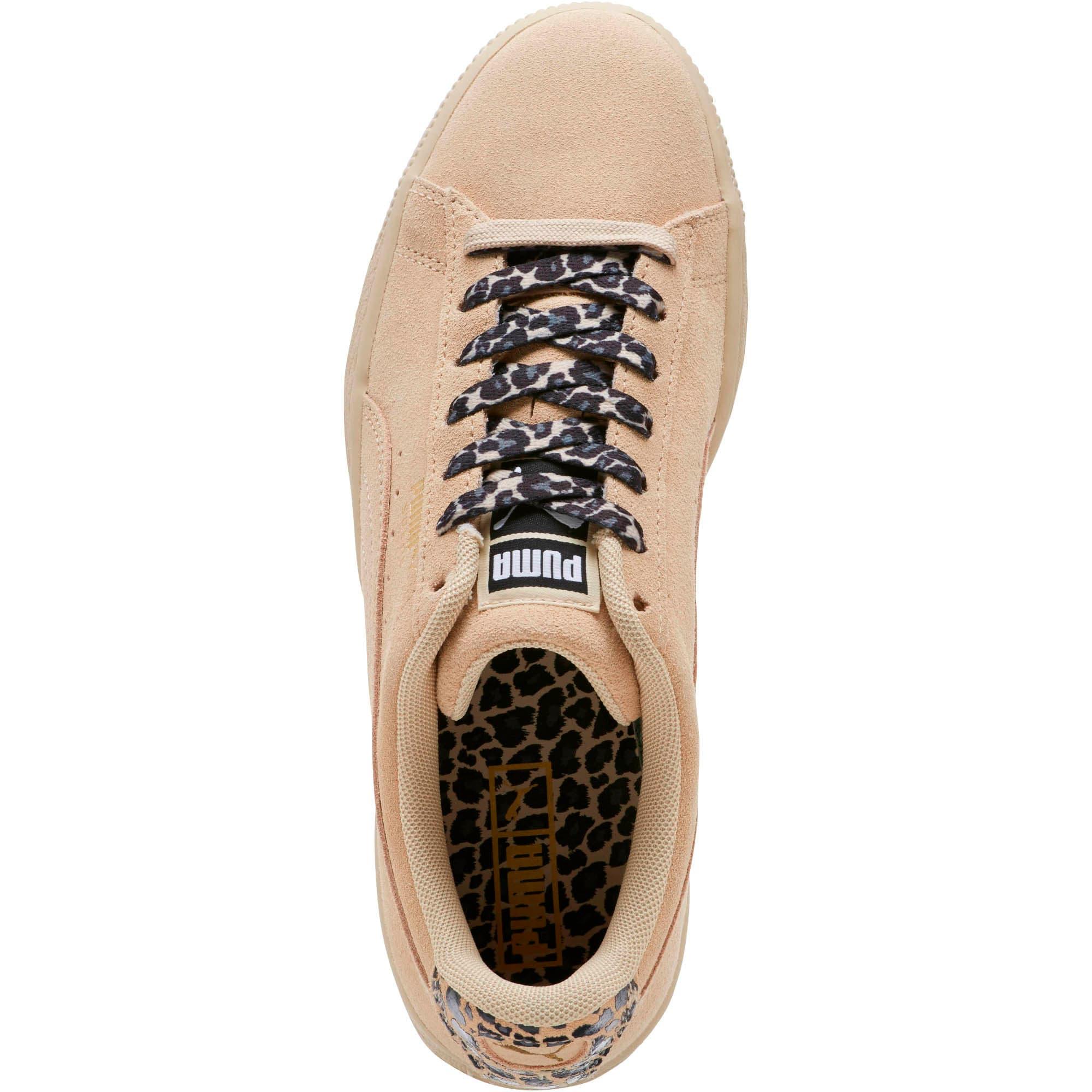 Thumbnail 5 of Suede Wild Women's Sneakers, Pebble- Gold-Puma Black, medium