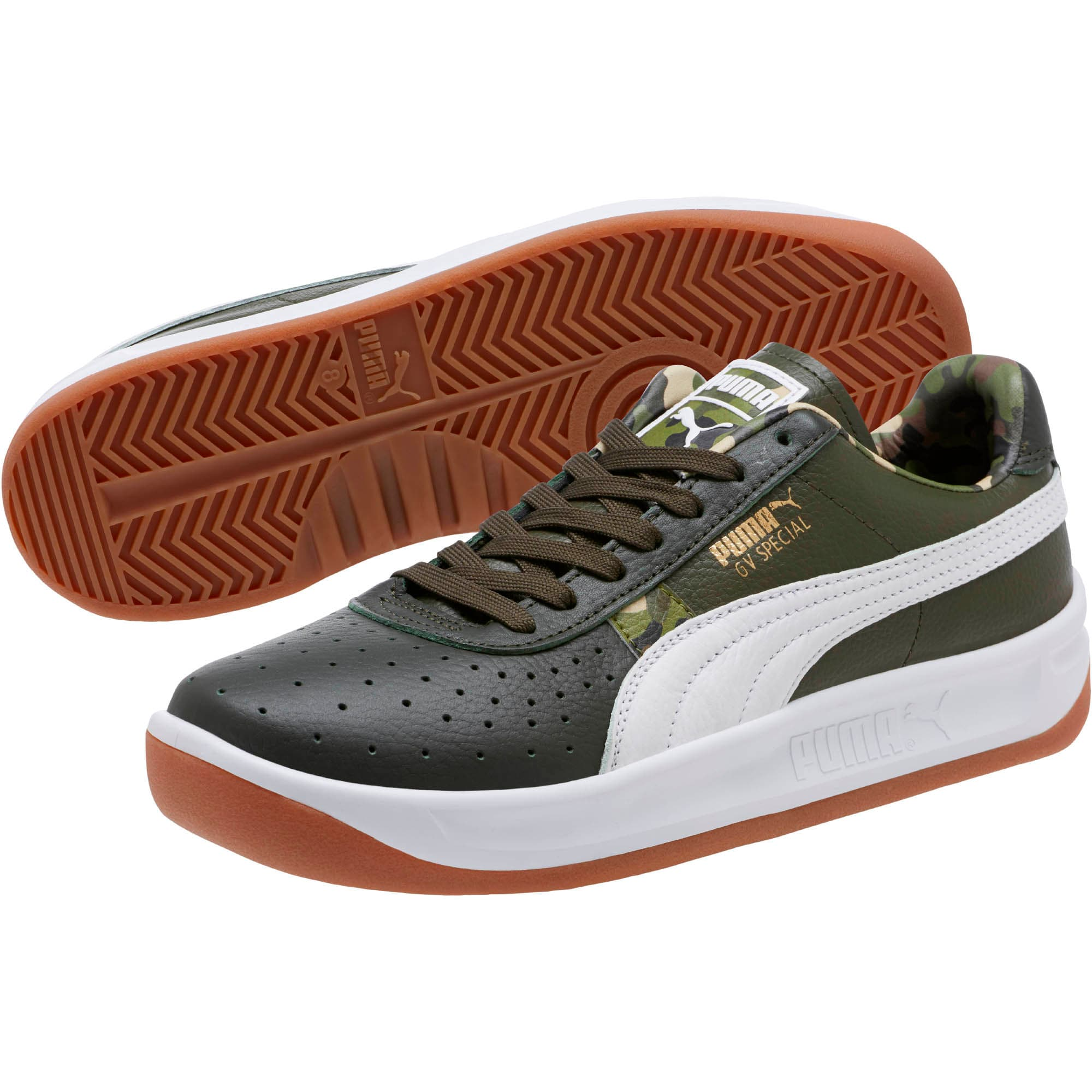 Thumbnail 2 of GV Special Wild Camo Sneakers, Night-Puma White- Gold, medium