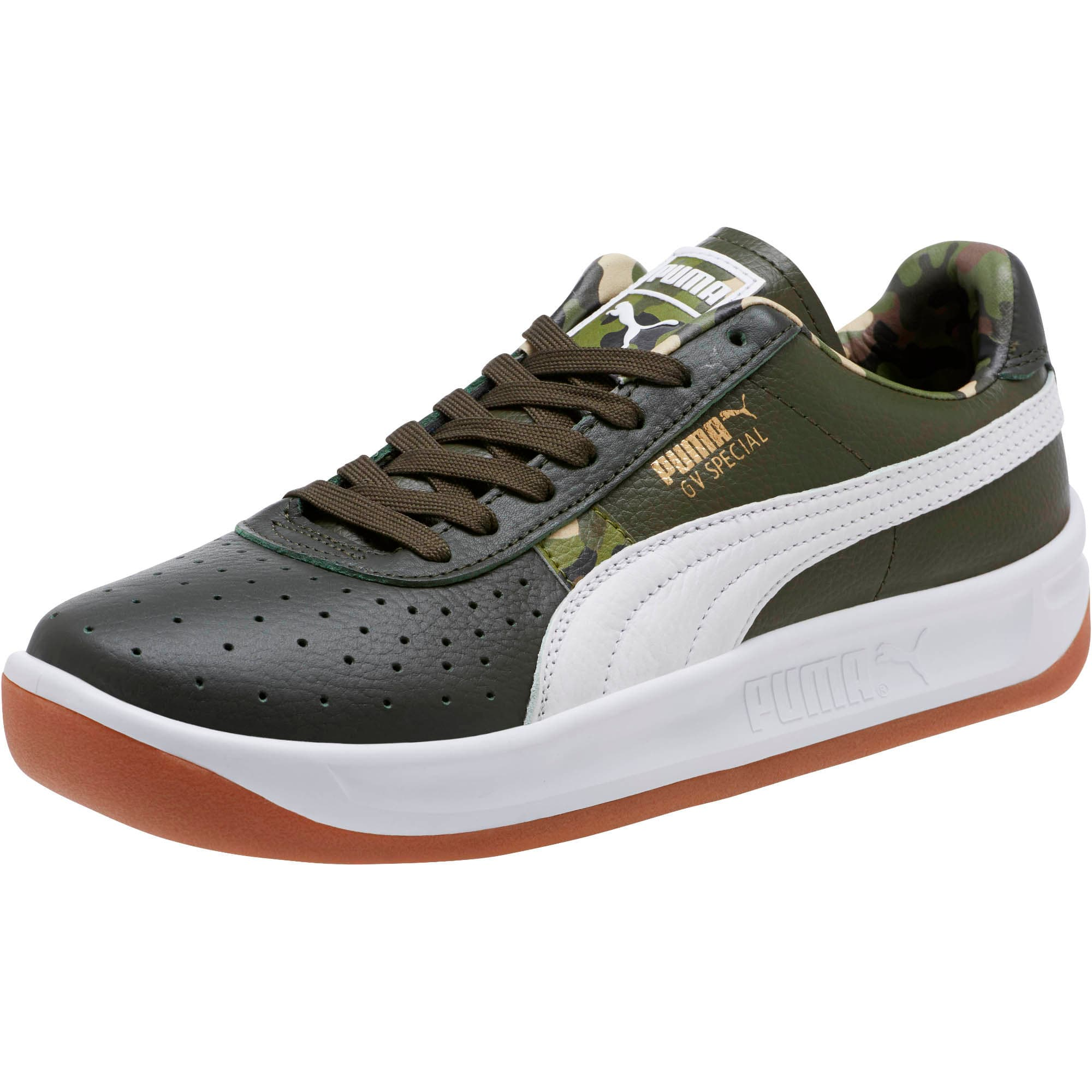 Thumbnail 1 of GV Special Wild Camo Sneakers, Night-Puma White- Gold, medium