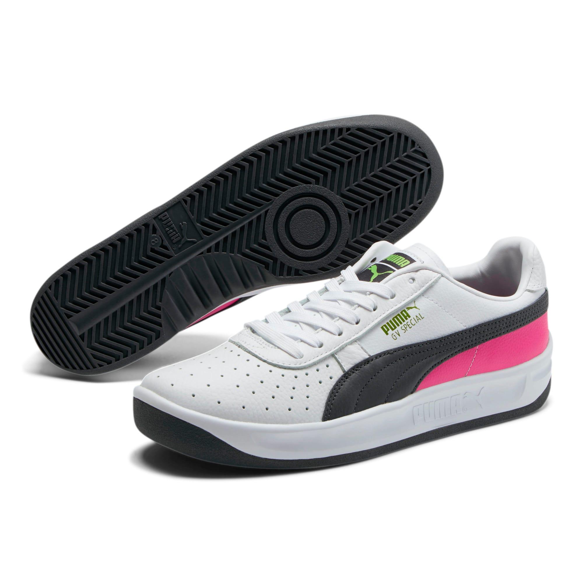 Thumbnail 2 of GV Special + ColorBlock Men's Sneakers, P White-P Blk-Fuchsia Purple, medium