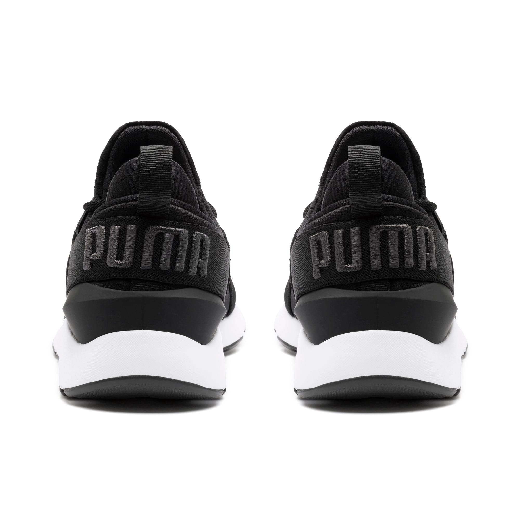 Thumbnail 4 of Muse Satin II Damen Sneaker, Puma Black-Asphalt, medium