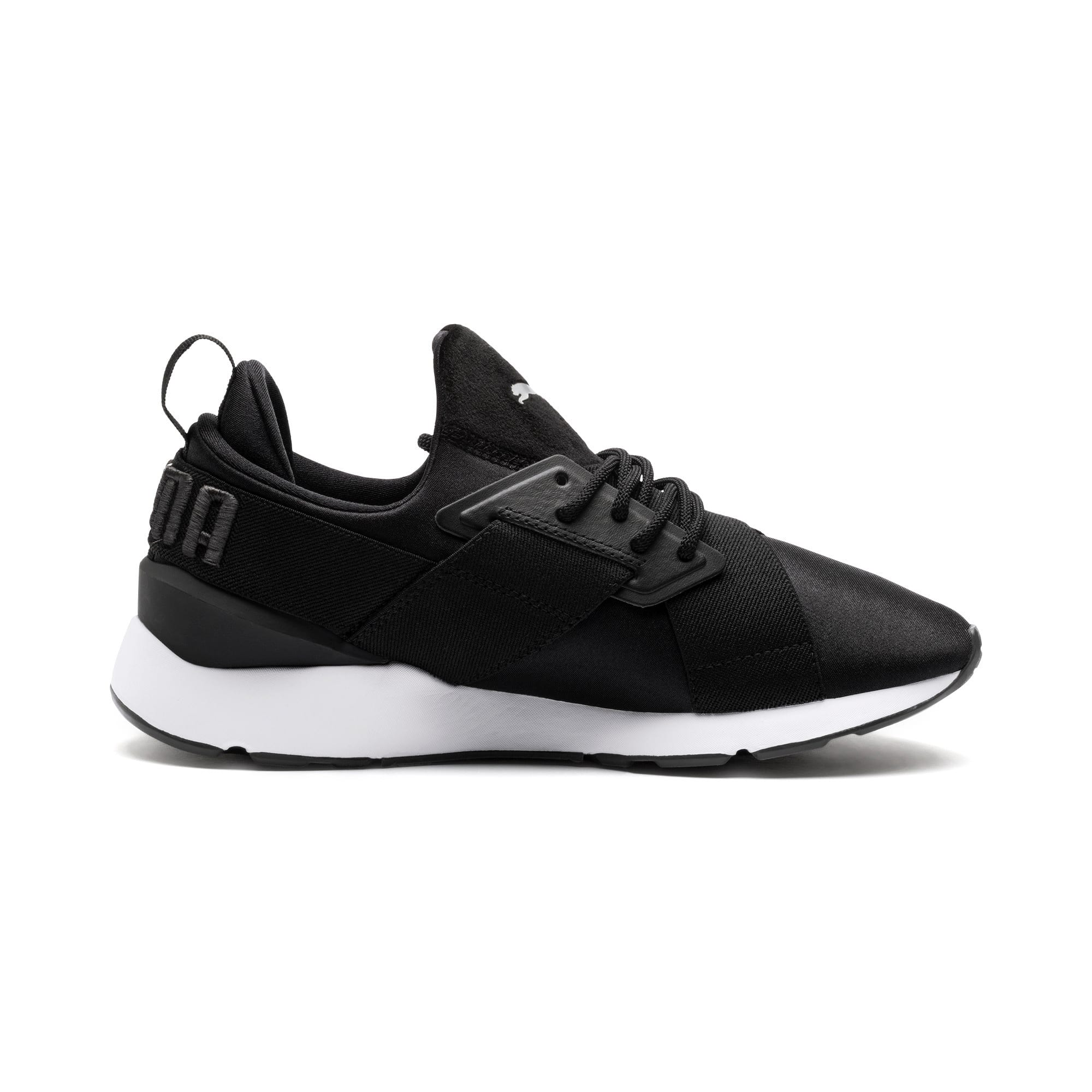Thumbnail 5 of Muse Satin II Damen Sneaker, Puma Black-Asphalt, medium