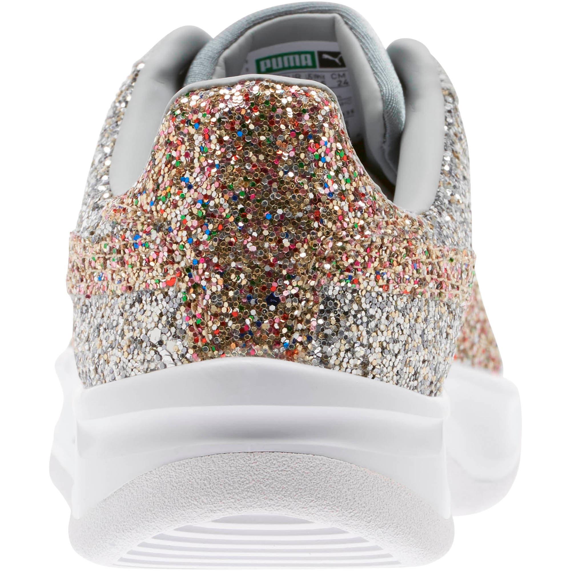 Thumbnail 4 of California Glitz Women's Sneakers, Silver-CERULEAN-Quarry, medium