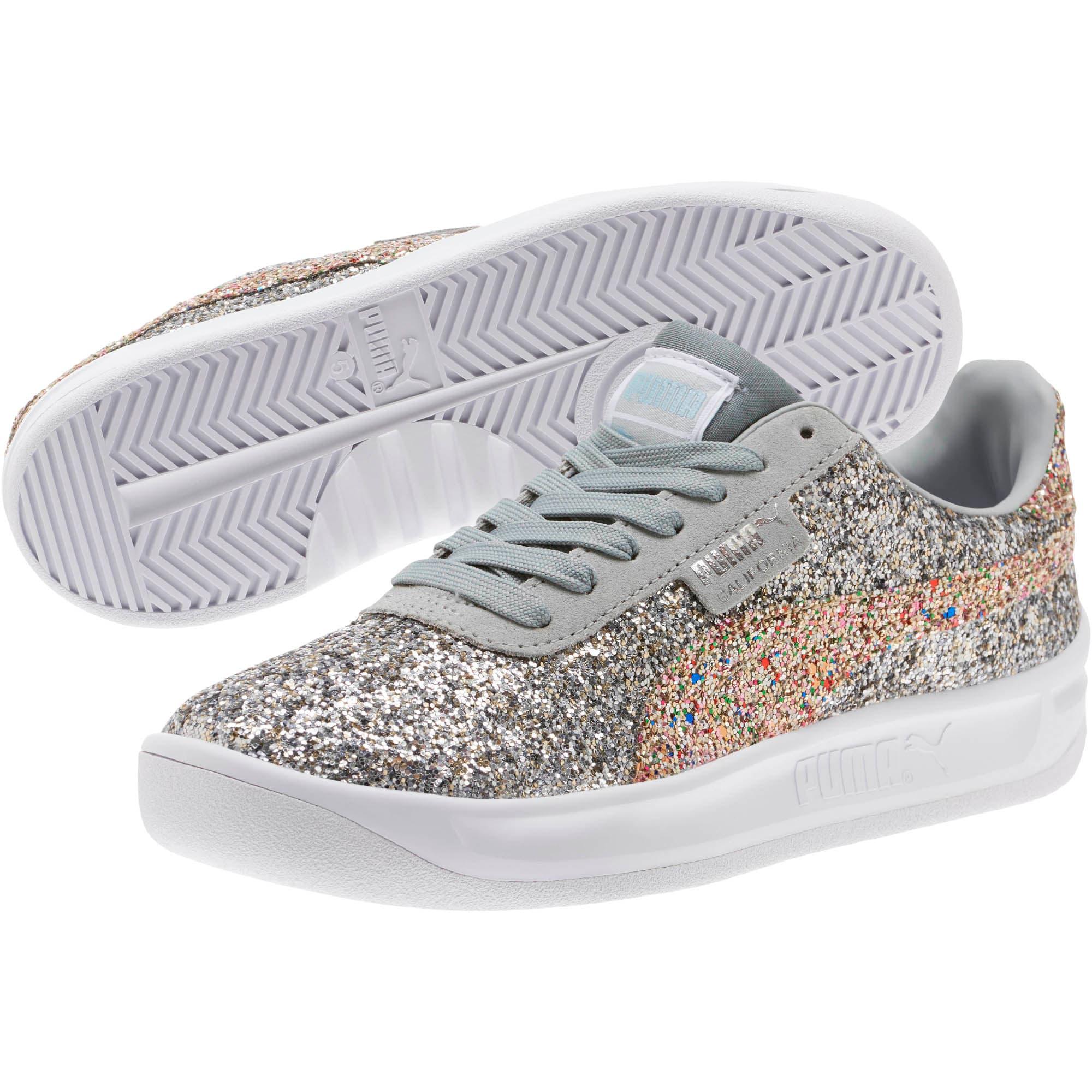 Thumbnail 2 of California Glitz Women's Sneakers, Silver-CERULEAN-Quarry, medium