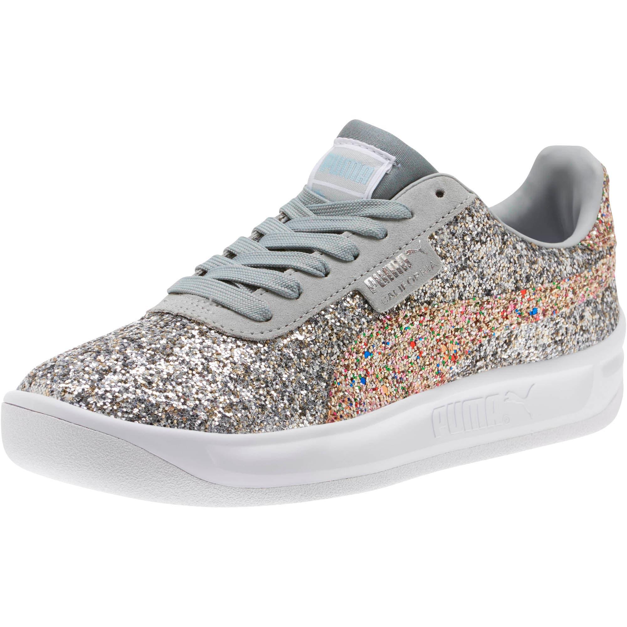 Thumbnail 1 of California Glitz Women's Sneakers, Silver-CERULEAN-Quarry, medium
