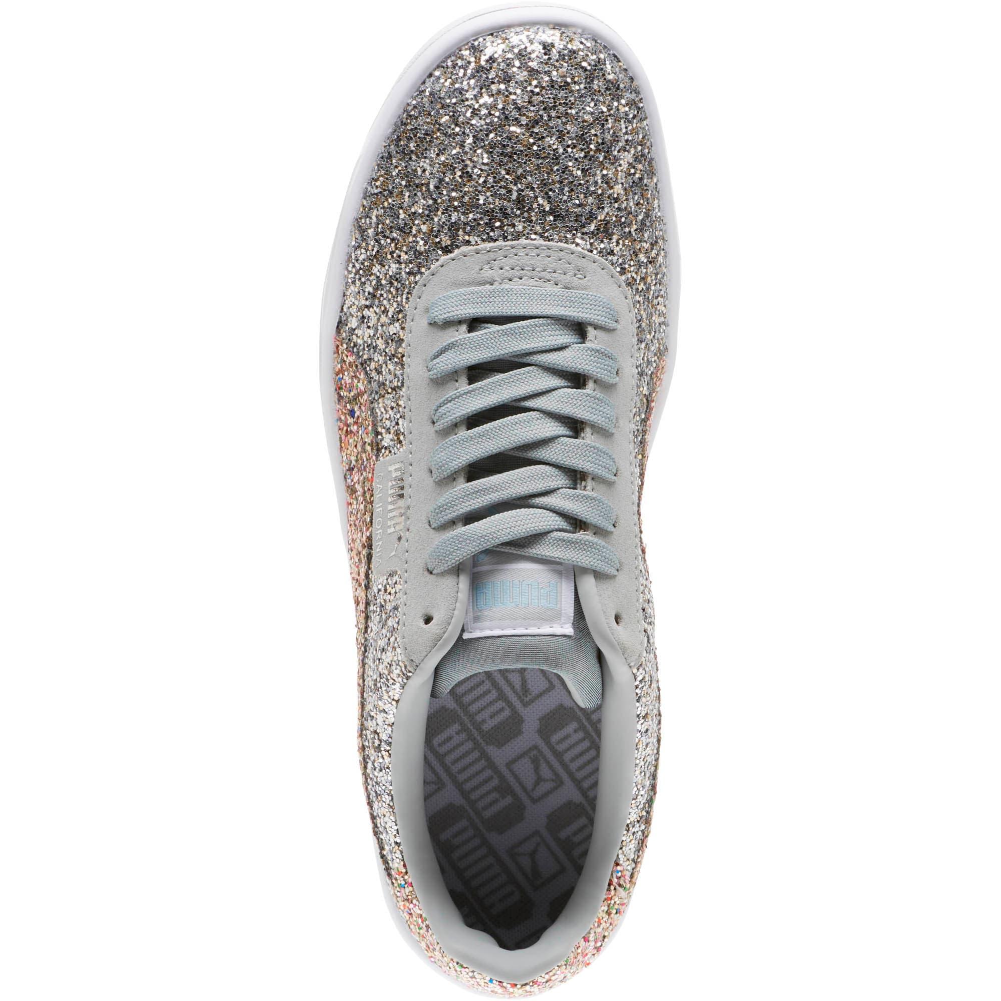 Thumbnail 5 of California Glitz Women's Sneakers, Silver-CERULEAN-Quarry, medium