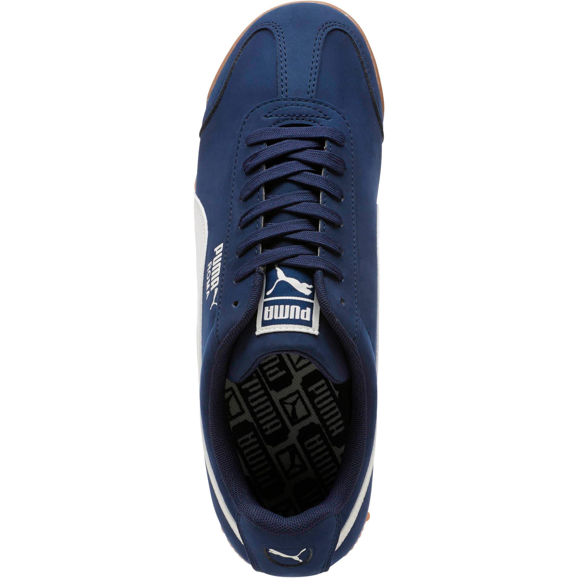 Thumbnail 5 of Roma Smooth Nubuck Sneakers, Peacoat-Whisper White, medium