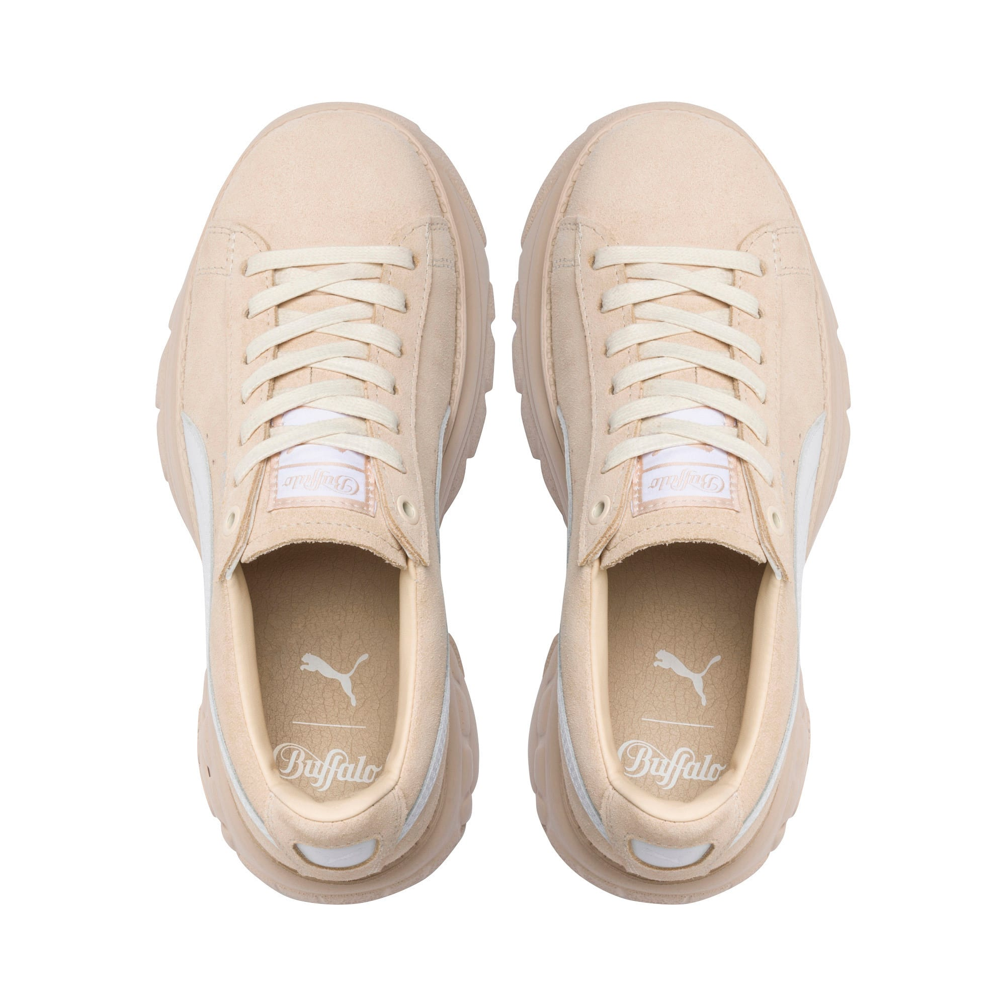 Thumbnail 6 of PUMA x BUFFALO Suede Shoes, Dawn-Puma White, medium