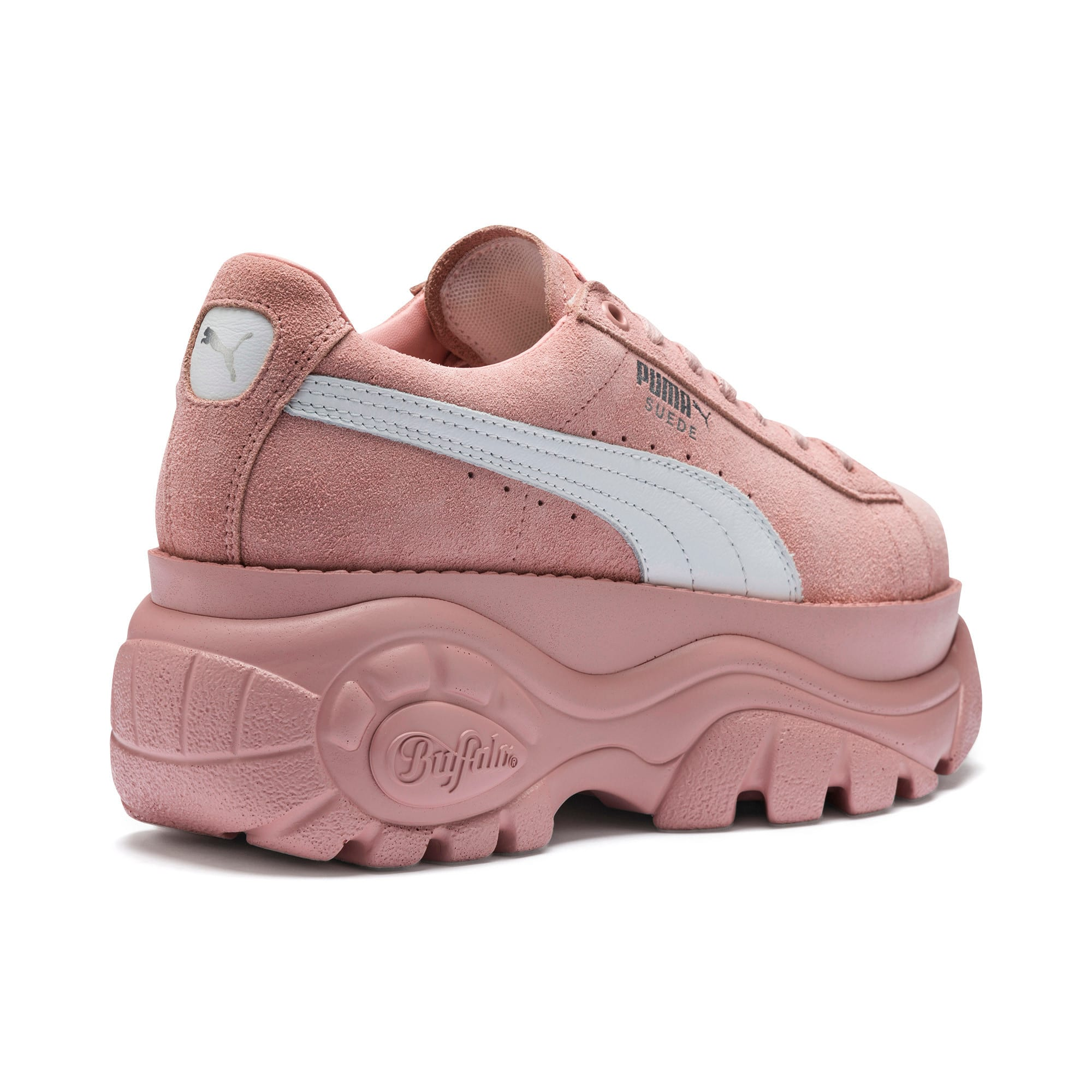 Thumbnail 7 of PUMA x BUFFALO Suede Shoes, Mellow Rose-Puma White, medium