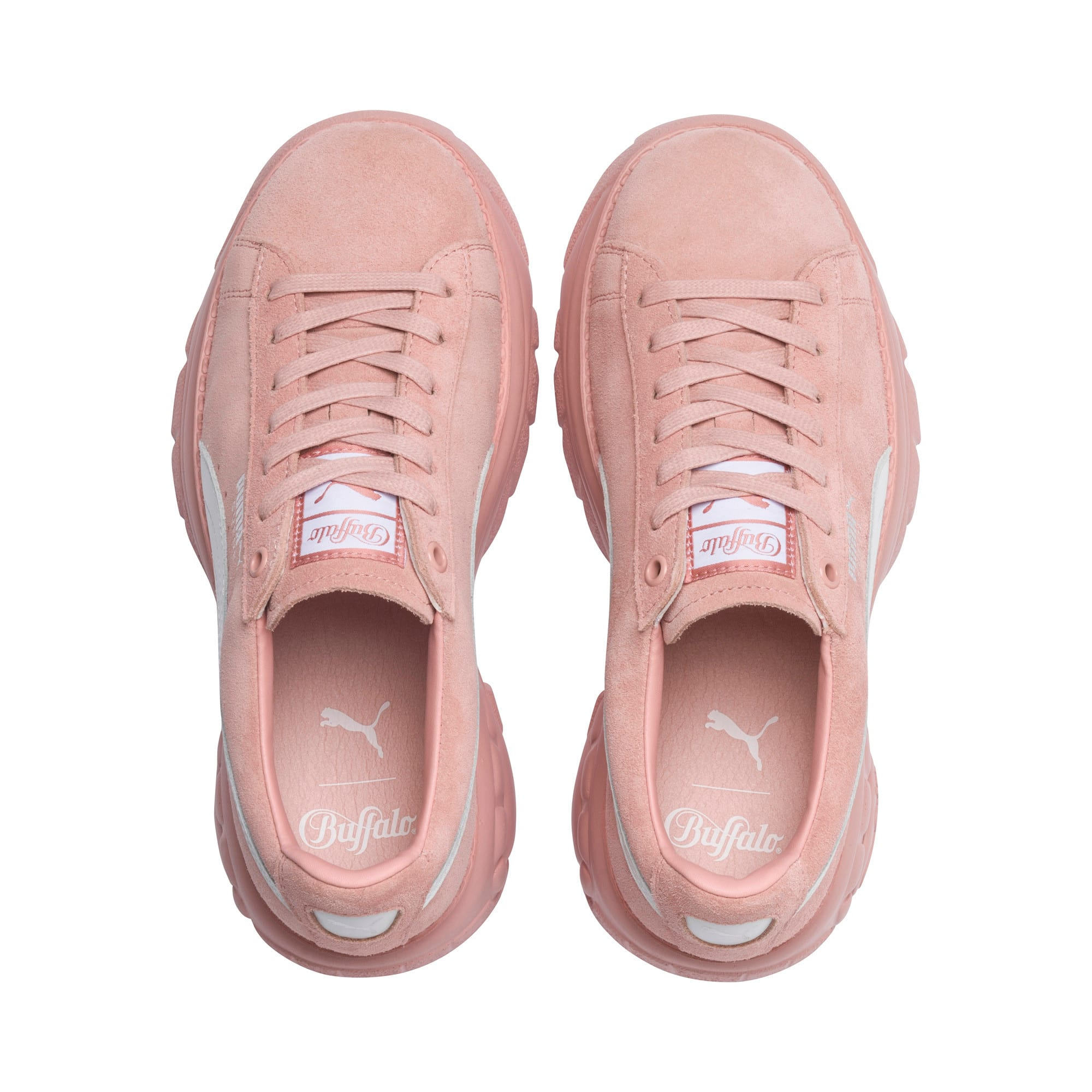 Thumbnail 6 of PUMA x BUFFALO Suede Shoes, Mellow Rose-Puma White, medium