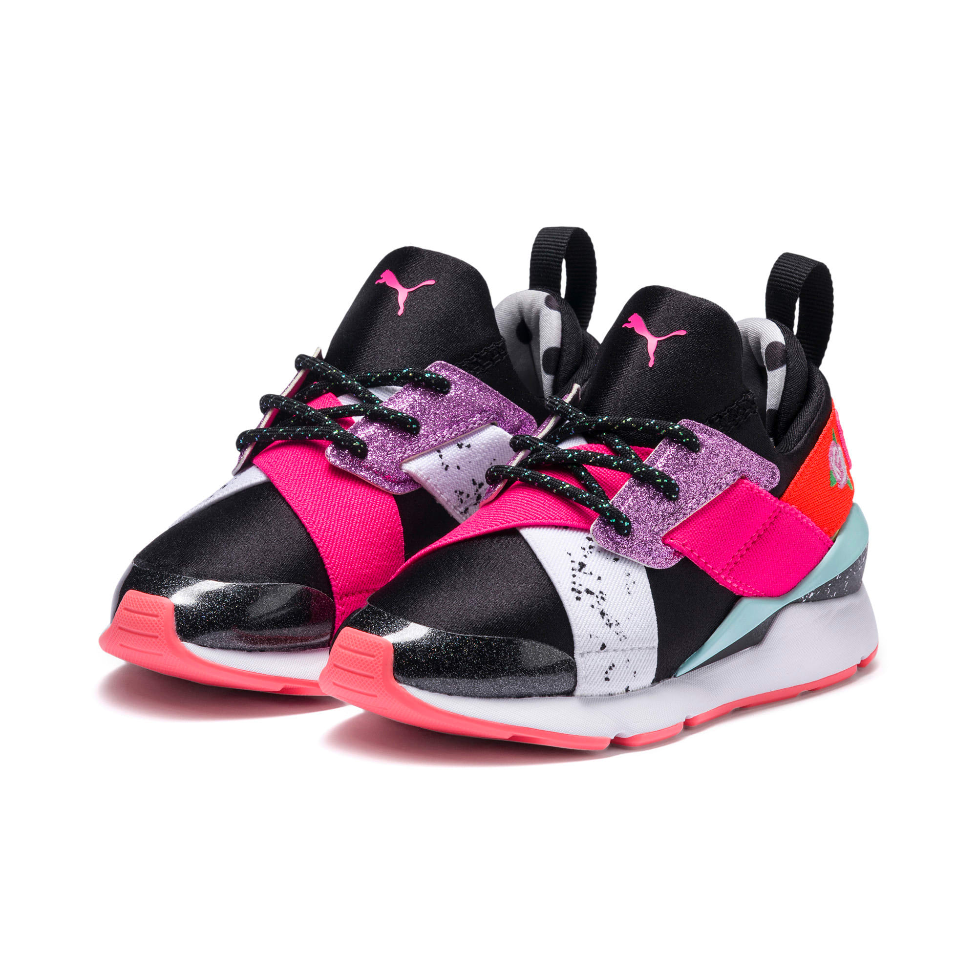 Thumbnail 5 of PUMA x SOPHIA WEBSTER Muse Little Kids' Shoes, Puma Black-Puma White, medium