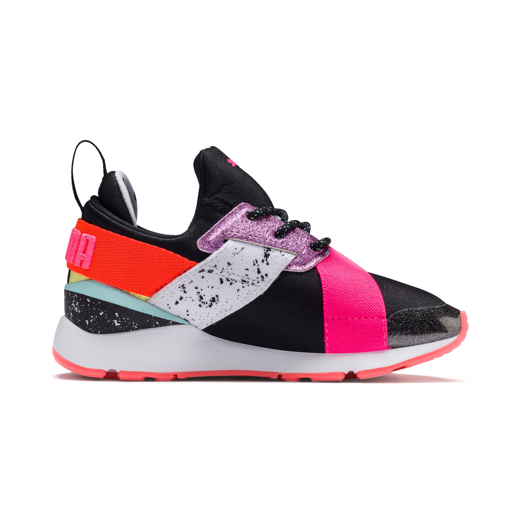 Thumbnail 4 of PUMA x SOPHIA WEBSTER Muse Little Kids' Shoes, Puma Black-Puma White, medium