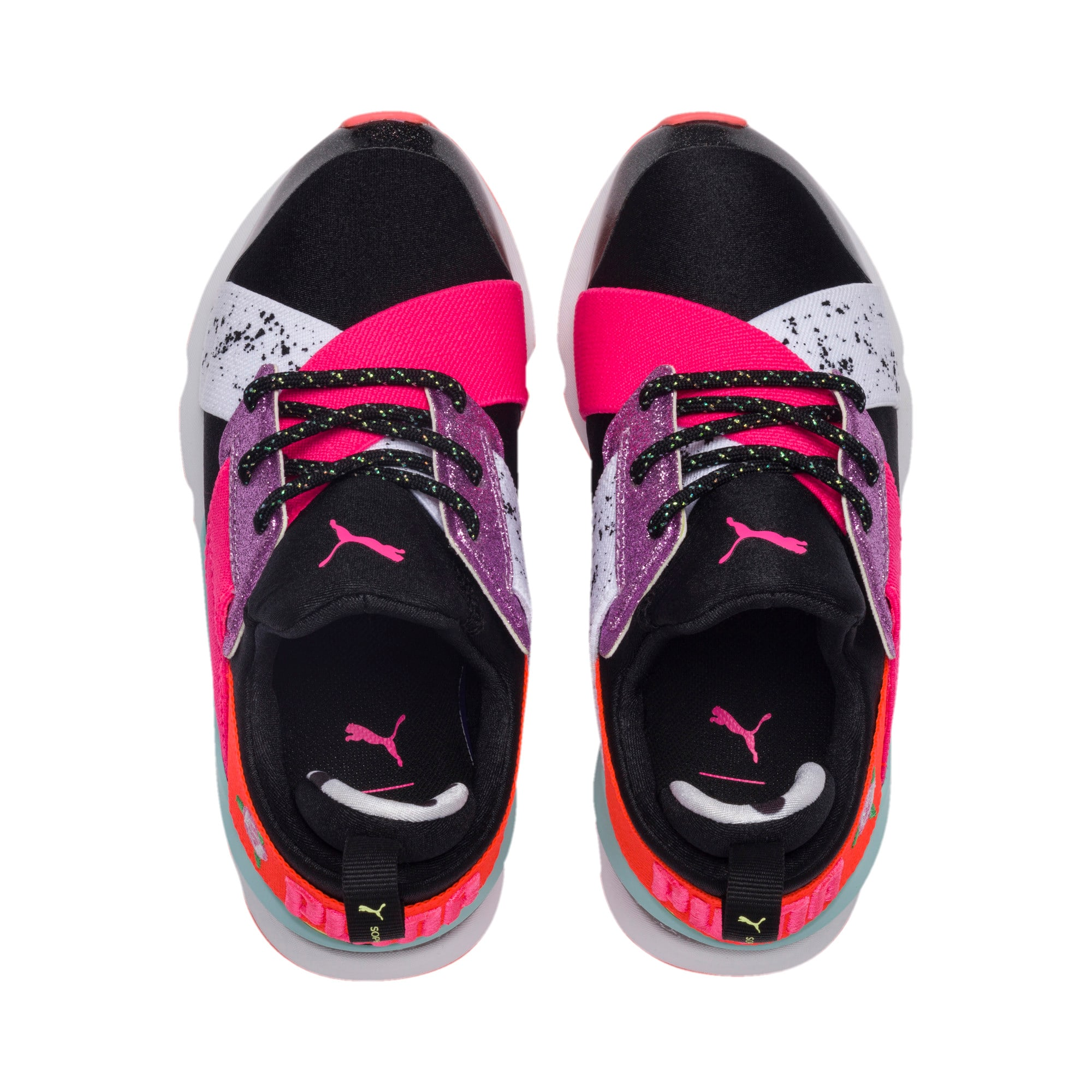 Thumbnail 6 of PUMA x SOPHIA WEBSTER Muse Little Kids' Shoes, Puma Black-Puma White, medium