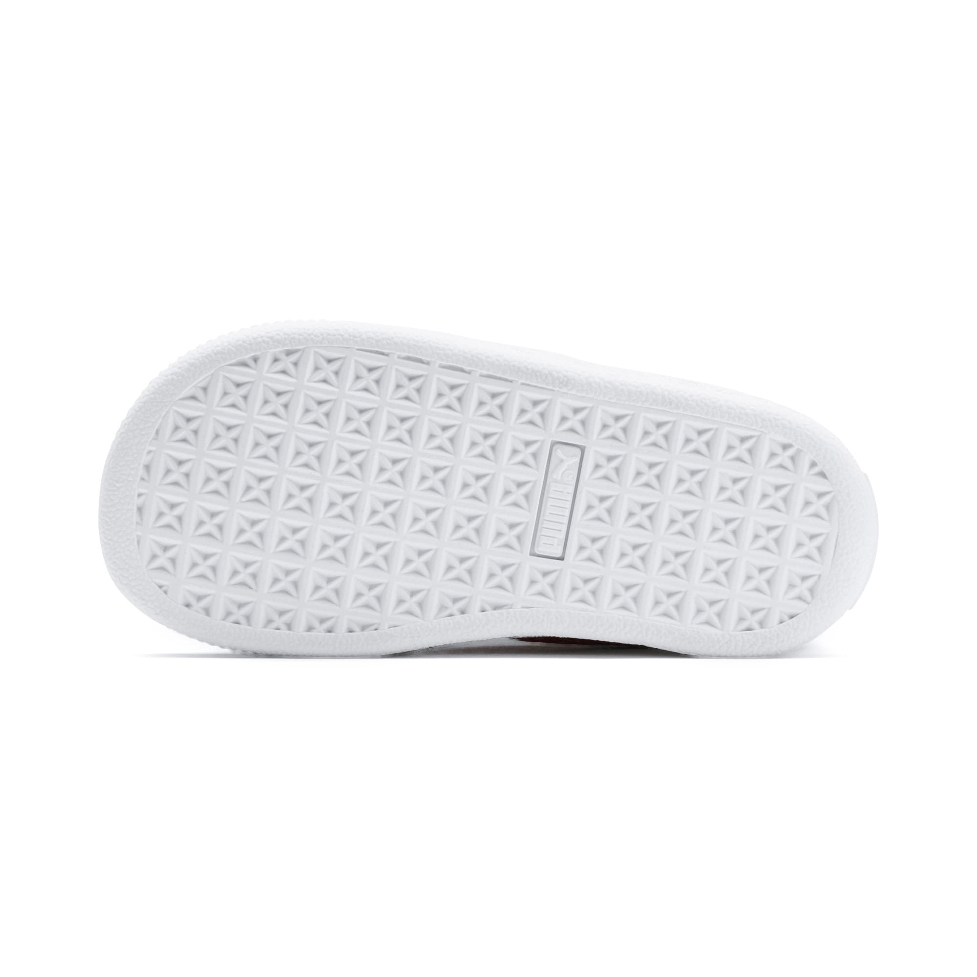 Thumbnail 4 of PUMA x SOPHIA WEBSTER Basket Toddler Shoes, Puma White-Pale Pink, medium
