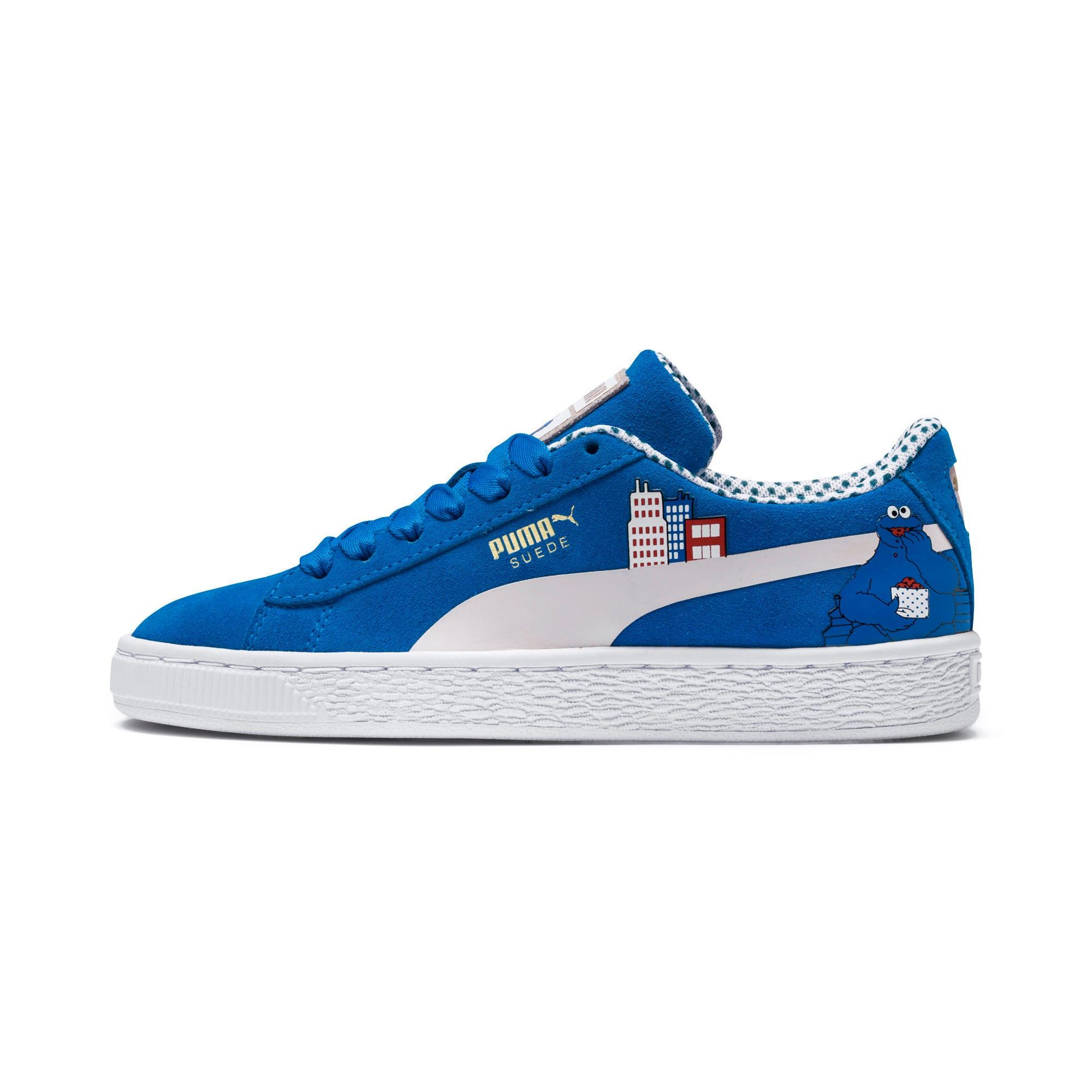 Miniatura 1 de Zapatos deportivosSesame Street 50 Suede para junior, Indigo Bunting-Veiled Rose, mediano