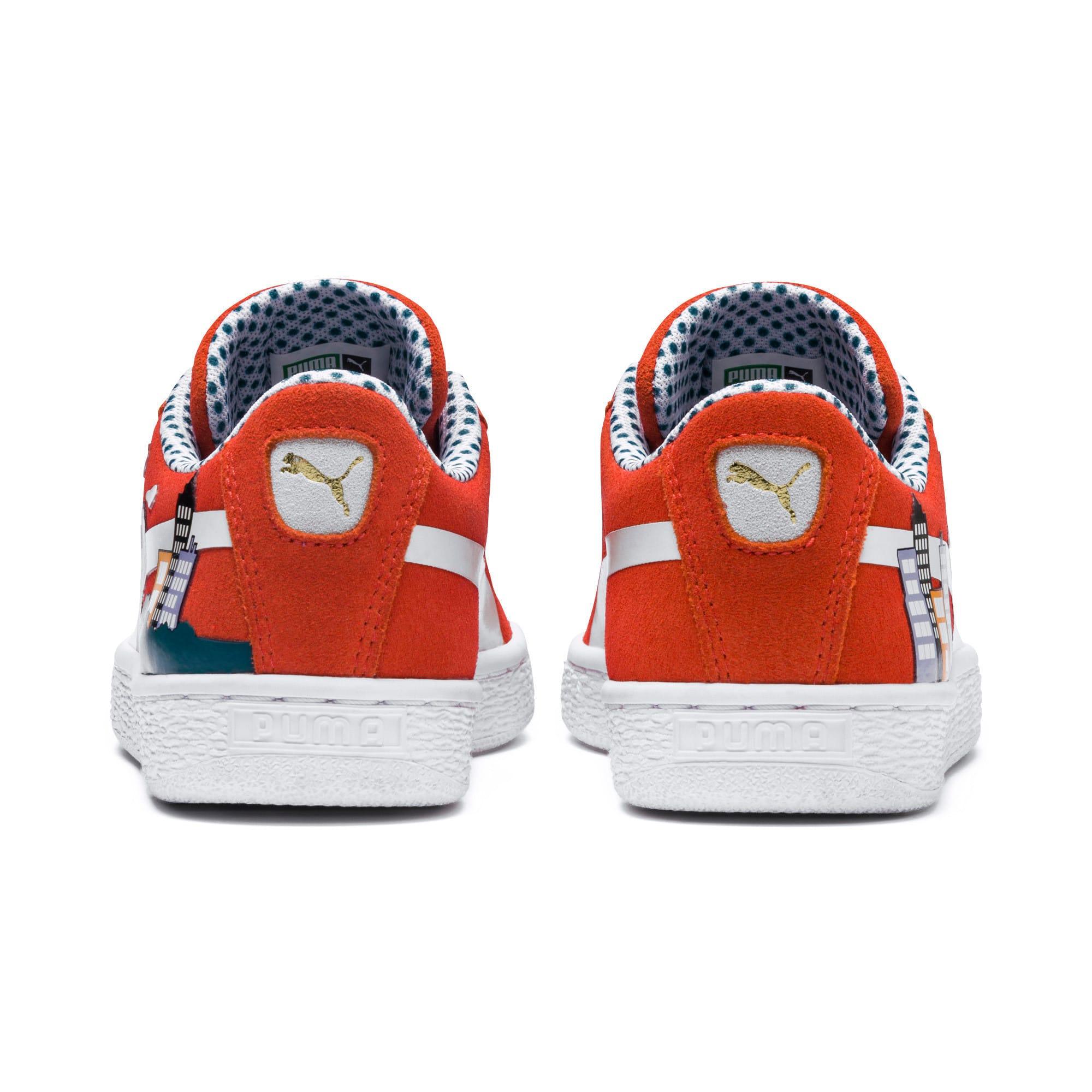 Thumbnail 3 of Sesame Street 50 Suede Sneakers JR, Cherry Tomato-Puma White, medium