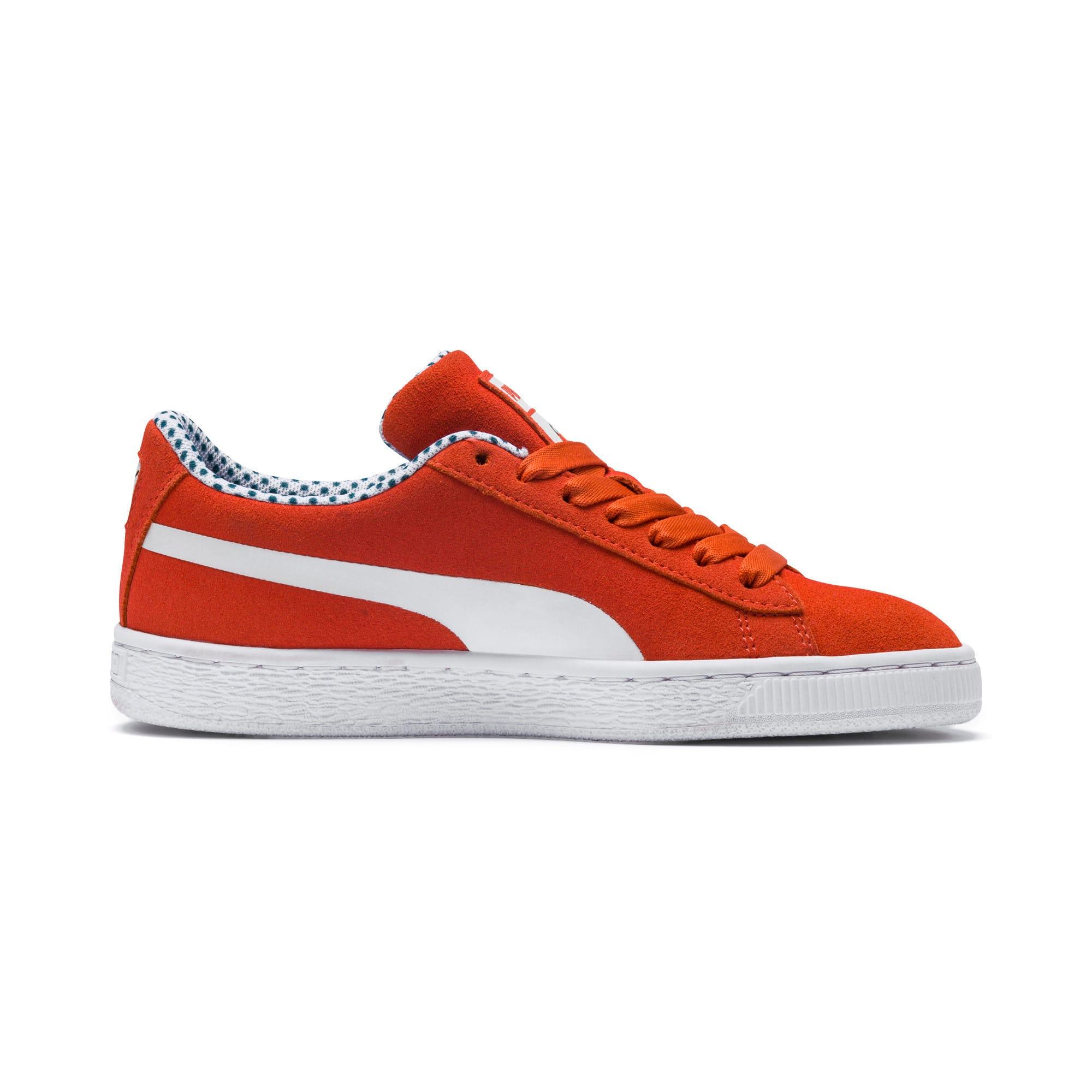 Thumbnail 5 of Sesame Street 50 Suede Sneakers JR, Cherry Tomato-Puma White, medium