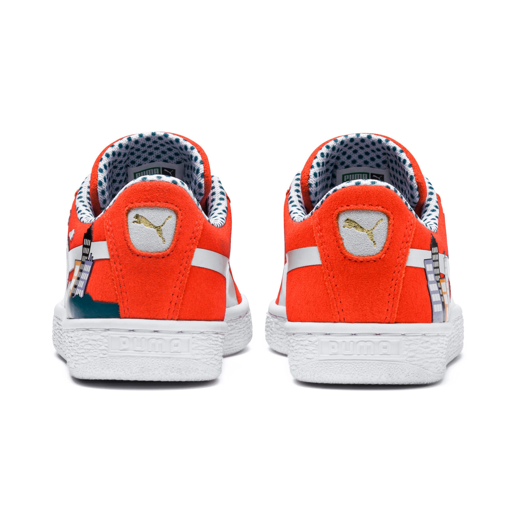 Thumbnail 3 of Sesame Street 50 Suede Little Kids' Shoes, Cherry Tomato-Puma White, medium