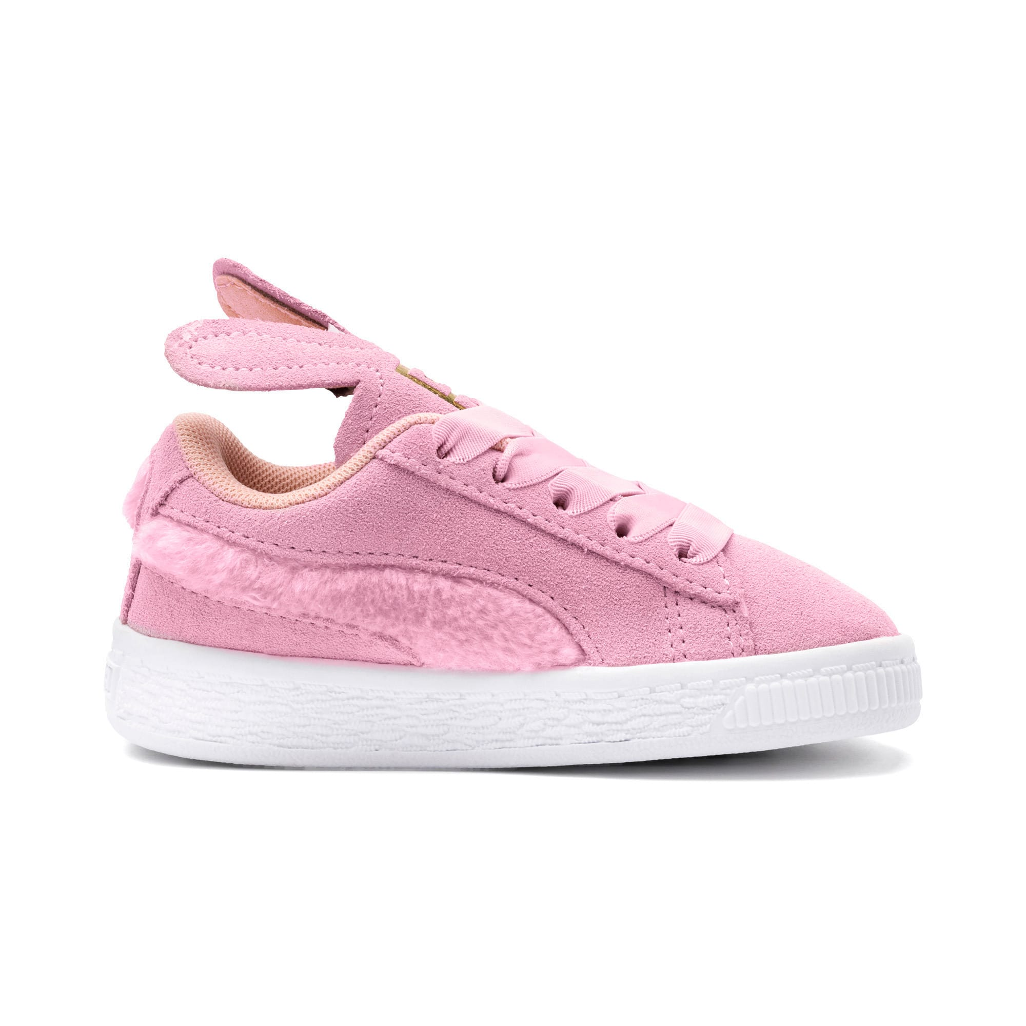 Thumbnail 5 of Suede Easter Kids' Trainers, Pale Pink-Coral Cloud, medium