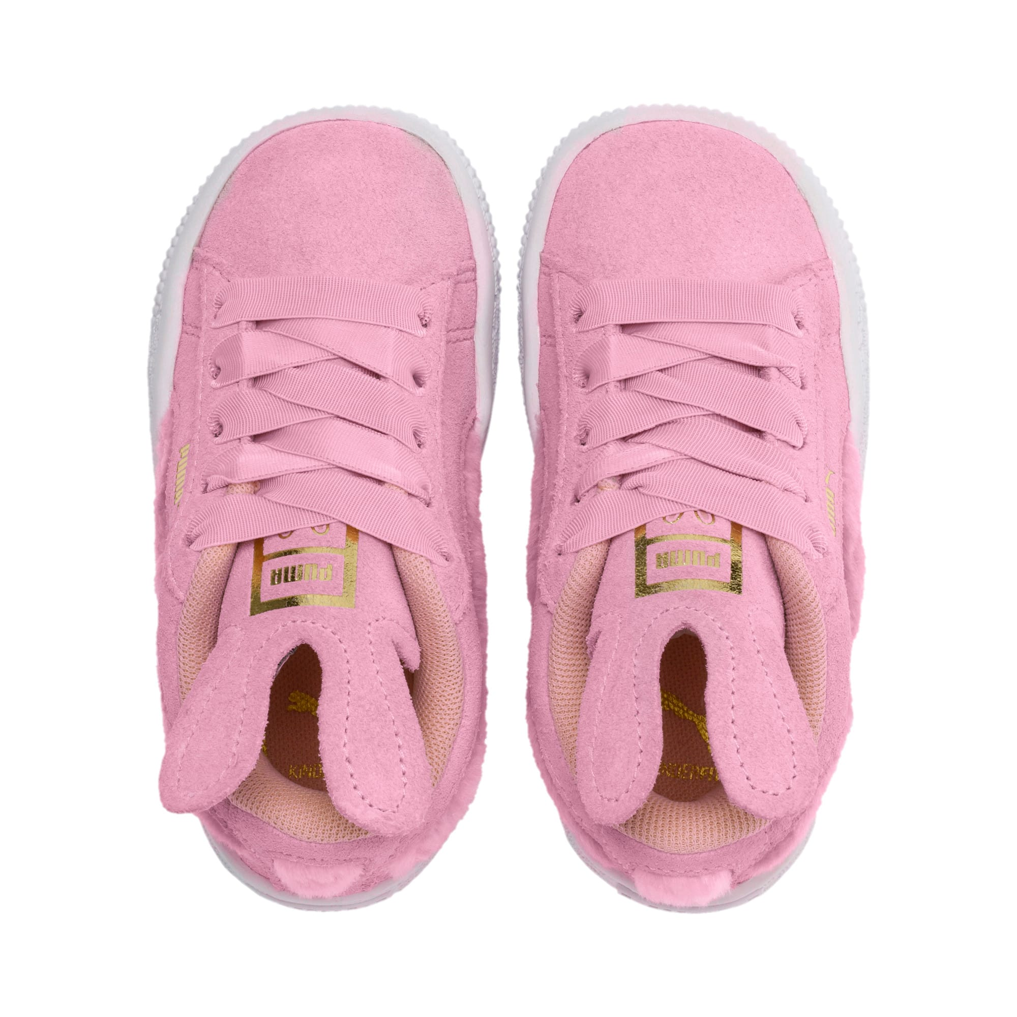Thumbnail 6 of Suede Easter Kids' Trainers, Pale Pink-Coral Cloud, medium