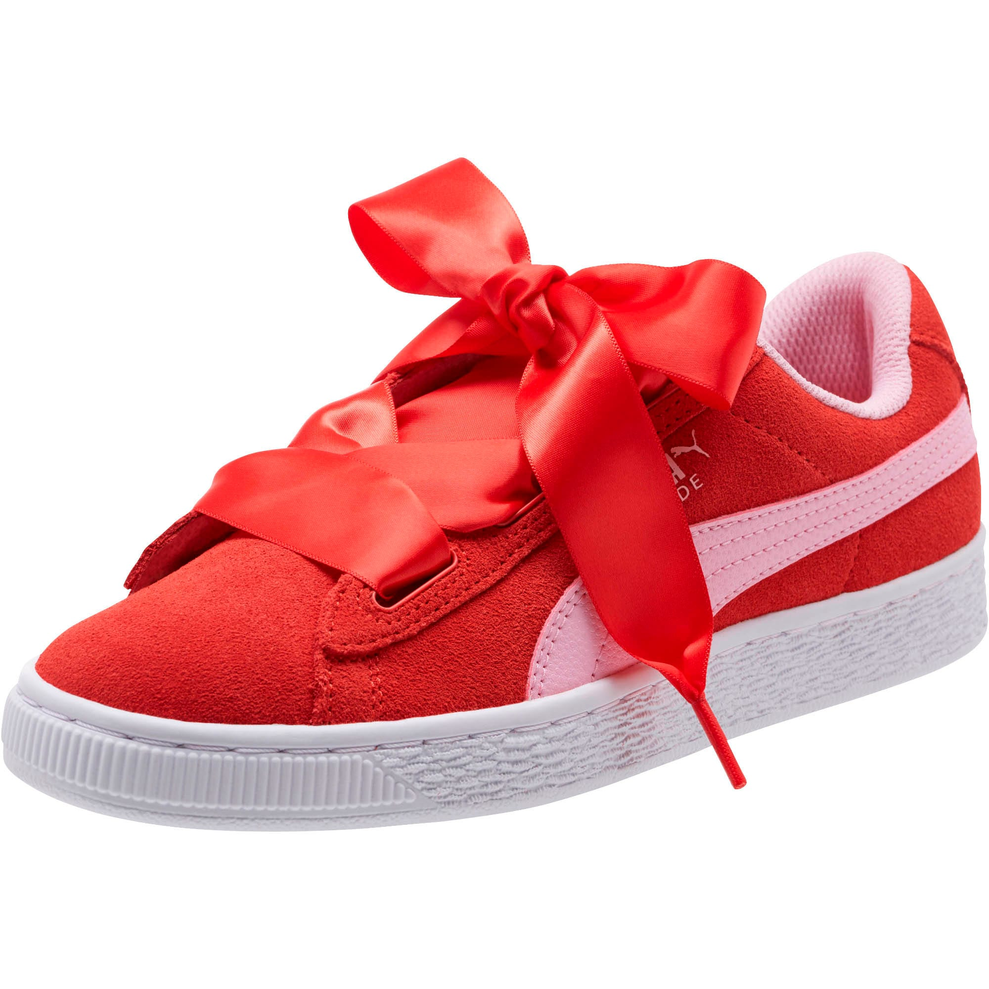Thumbnail 1 of Suede Heart Radicals Sneakers JR, Hibiscus -Pale Pink, medium