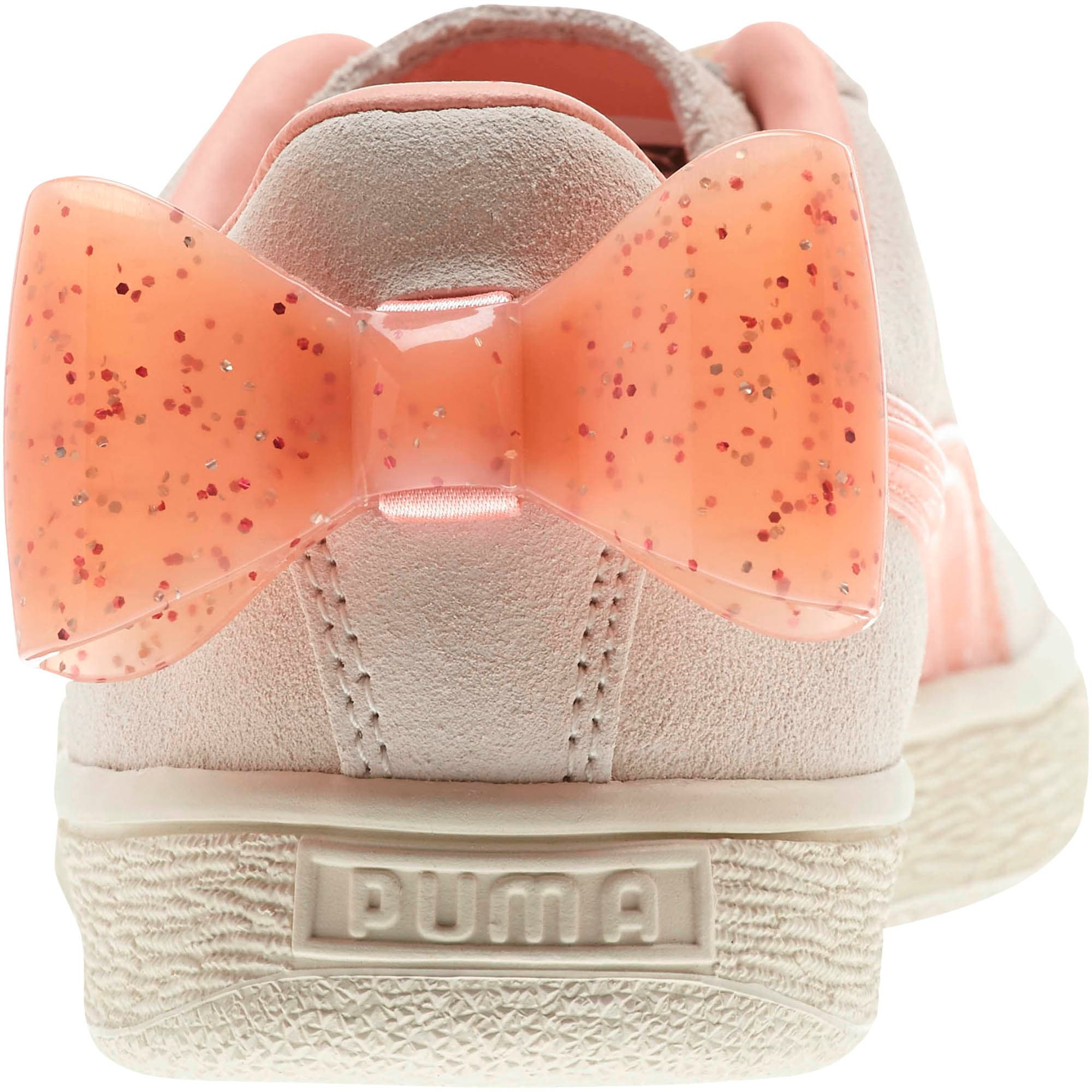 Miniatura 3 de Zapatos deportivos Suede Jelly Bow JR, Whis White-Peach Bud-Silver, mediano