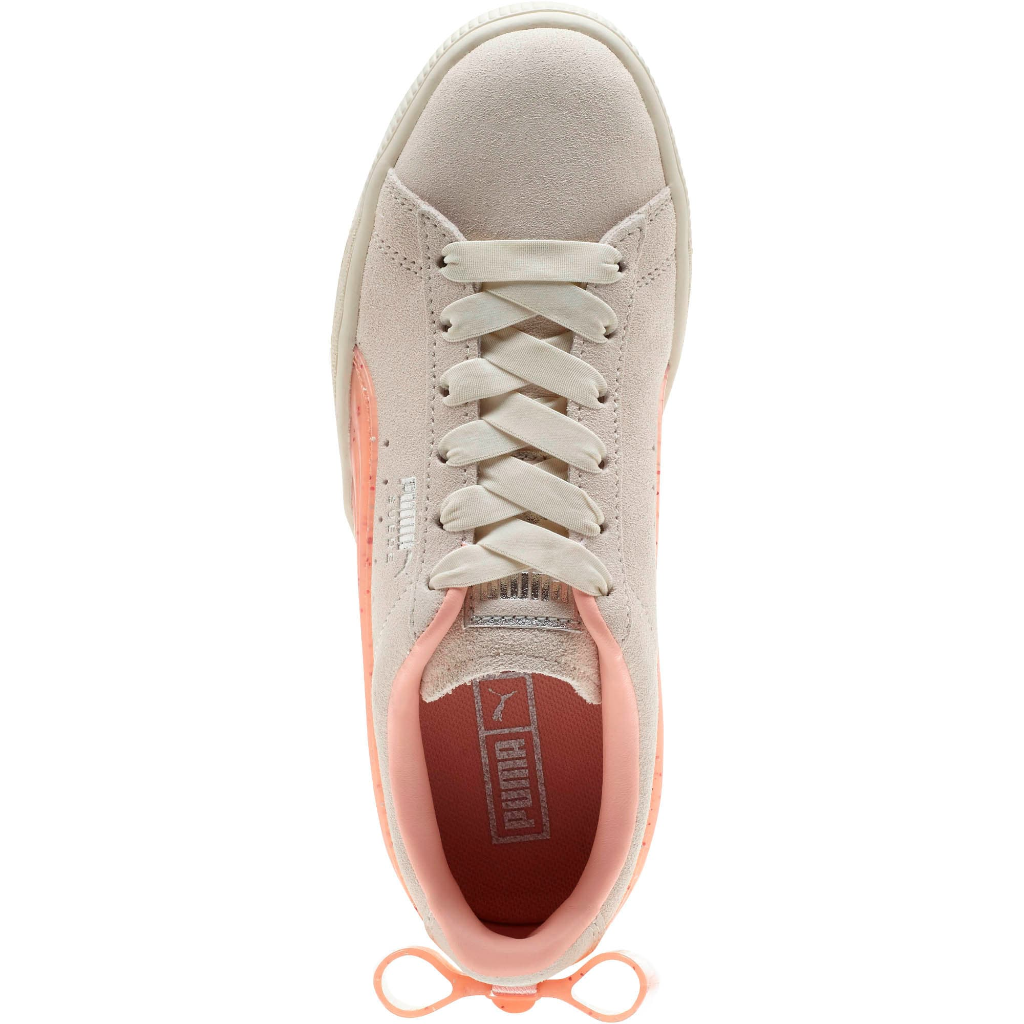 Miniatura 5 de Zapatos deportivos Suede Jelly Bow JR, Whis White-Peach Bud-Silver, mediano