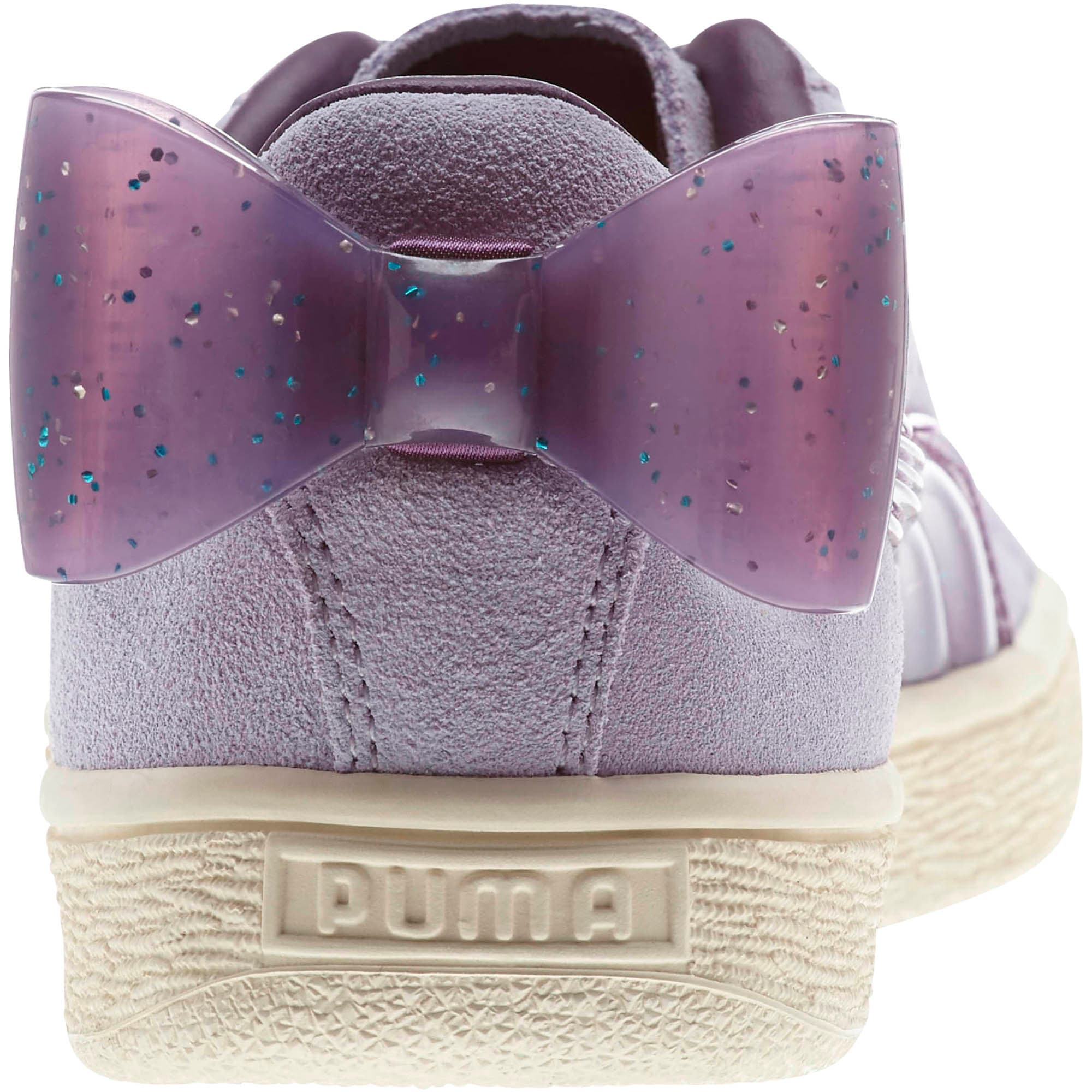 Miniatura 3 de Zapatos deportivos Suede Jelly Bow JR, SweetLavender-Indigo-White, mediano