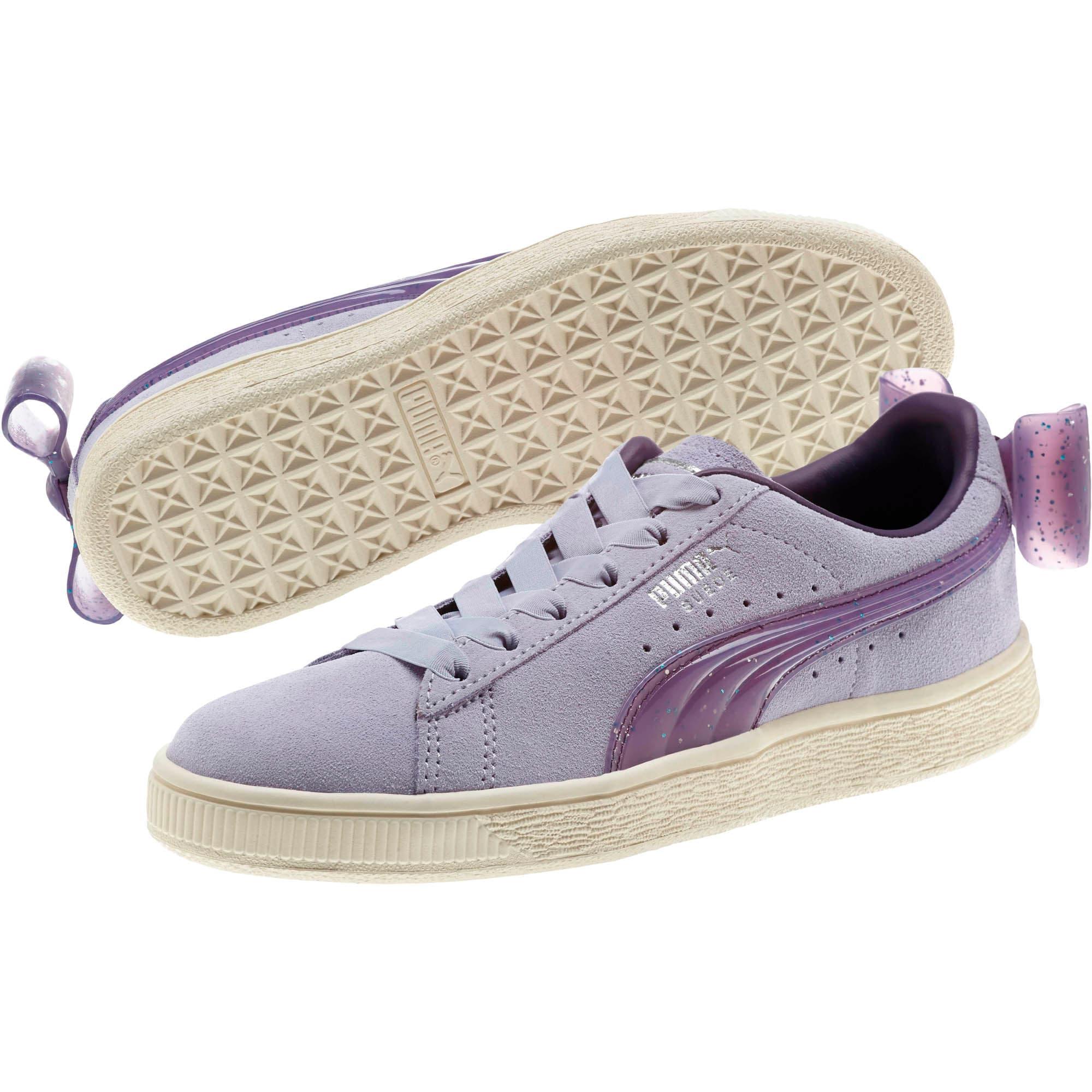 Miniatura 2 de Zapatos deportivos Suede Jelly Bow JR, SweetLavender-Indigo-White, mediano