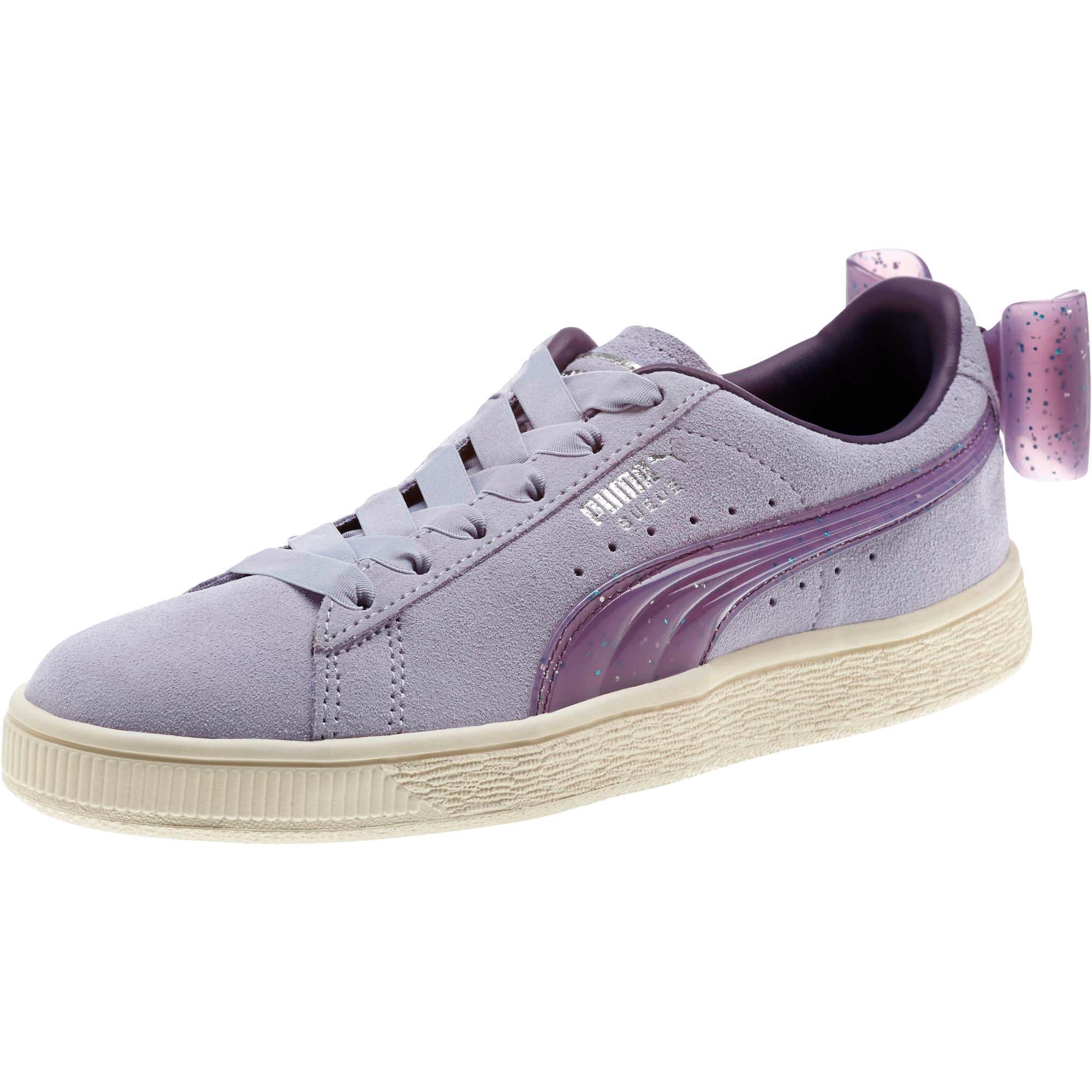 Miniatura 1 de Zapatos deportivos Suede Jelly Bow JR, SweetLavender-Indigo-White, mediano