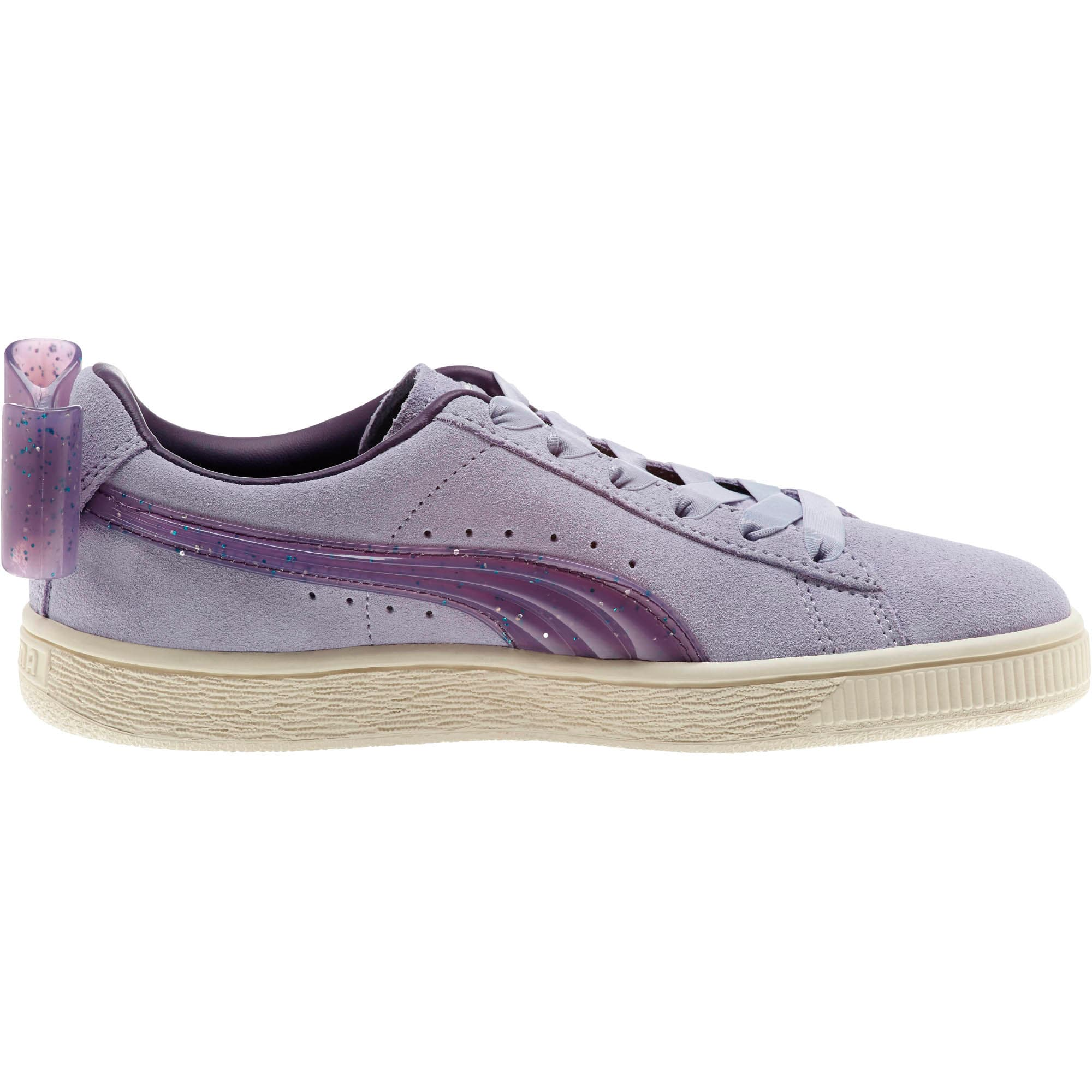 Miniatura 4 de Zapatos deportivos Suede Jelly Bow JR, SweetLavender-Indigo-White, mediano
