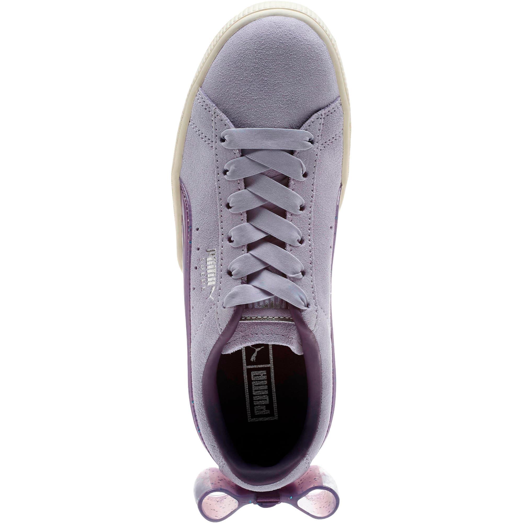Miniatura 5 de Zapatos deportivos Suede Jelly Bow JR, SweetLavender-Indigo-White, mediano