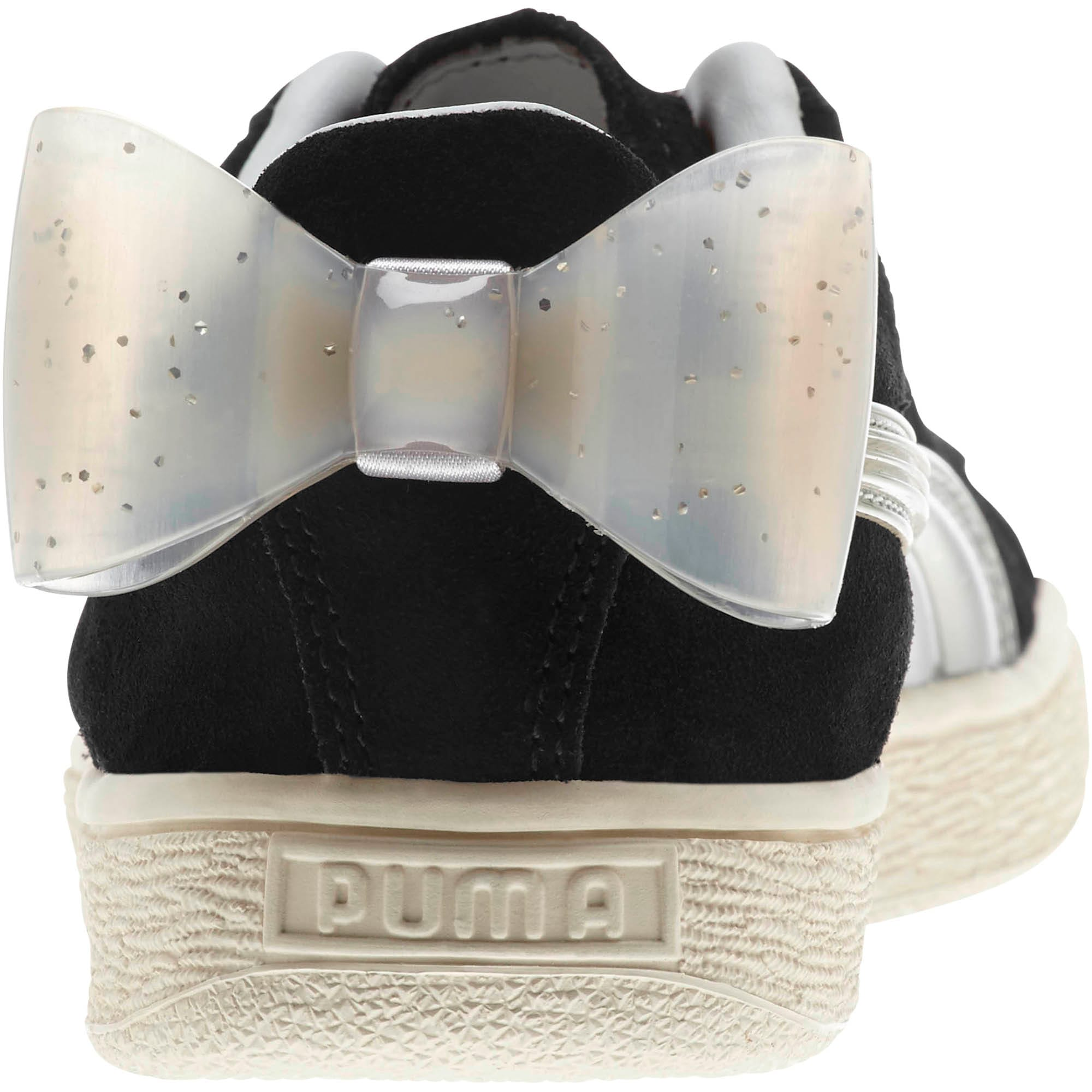 Suede Jelly Bow Sneaker