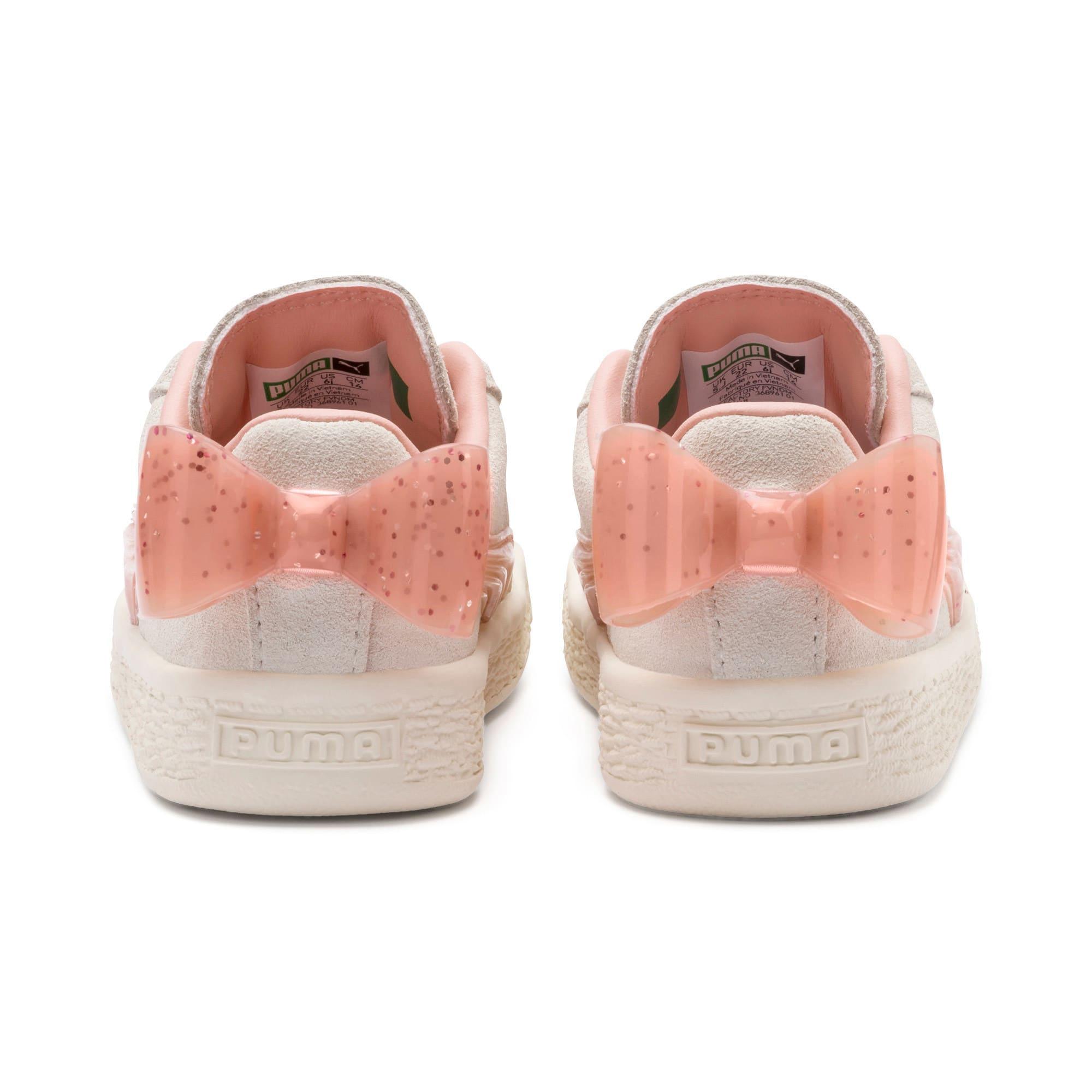 Miniatura 3 de Zapatos Suede Jelly Bow AC para niños, Whis White-Peach Bud-Silver, mediano