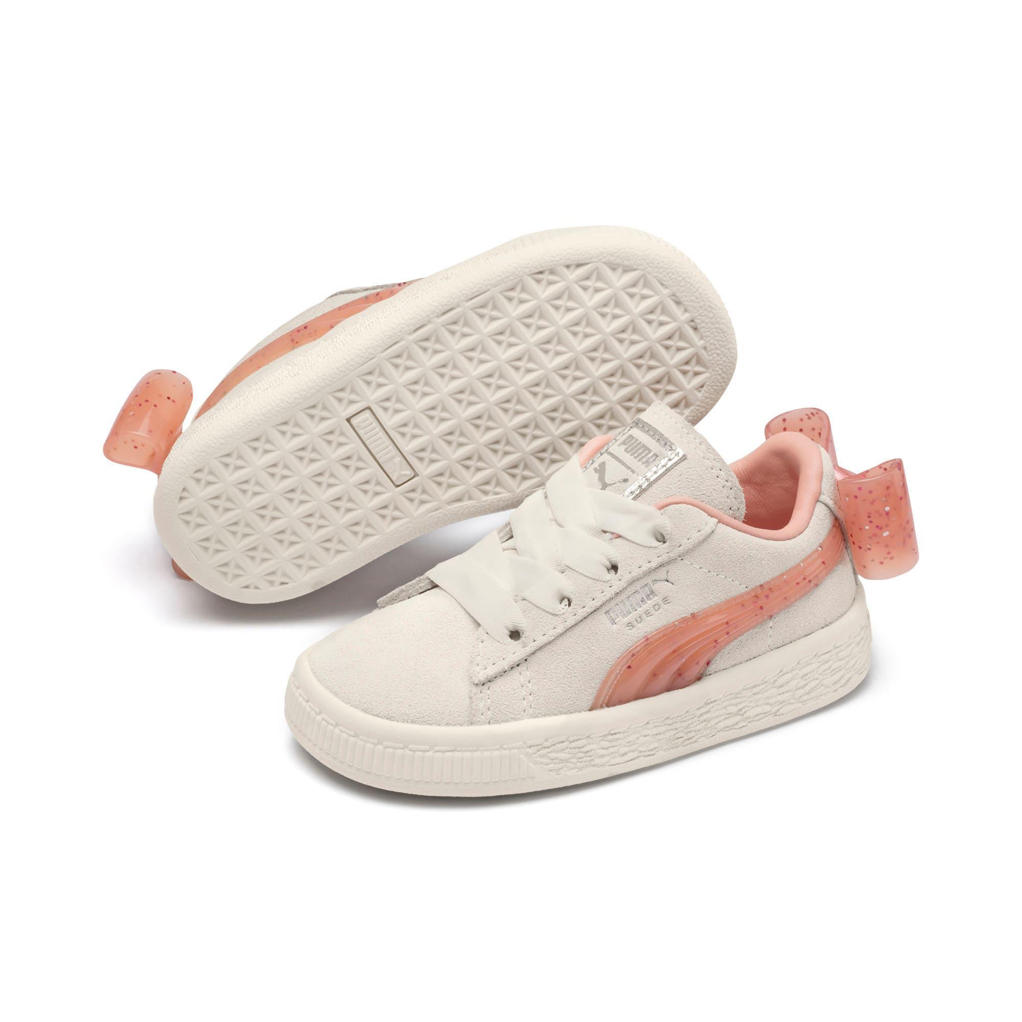 Miniatura 2 de Zapatos Suede Jelly Bow AC para niños, Whis White-Peach Bud-Silver, mediano