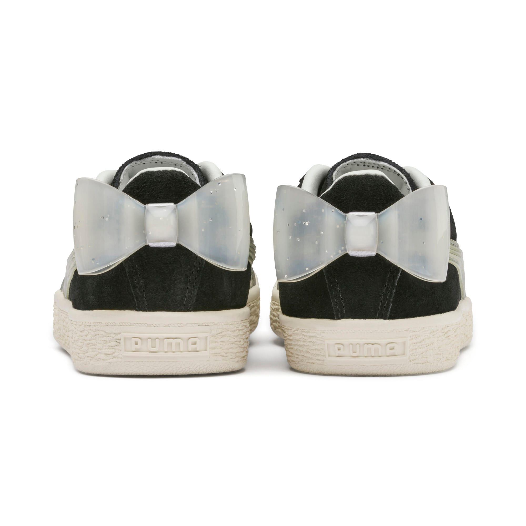Miniatura 3 de Zapatos Suede Jelly Bow AC para niños, Puma Black-Glac Gray-Silver, mediano
