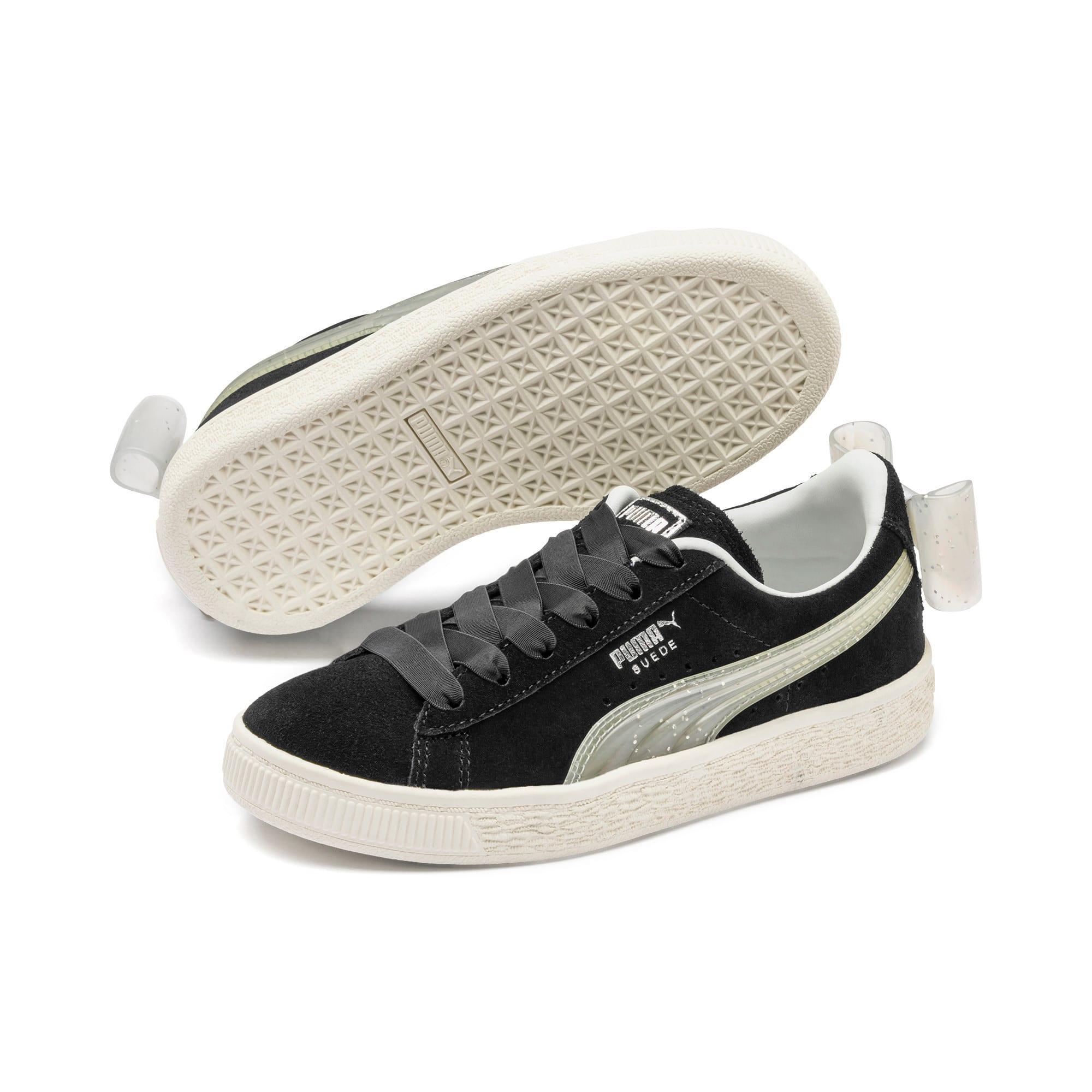 Miniatura 2 de Zapatos Suede Jelly Bow AC para niños, Puma Black-Glac Gray-Silver, mediano
