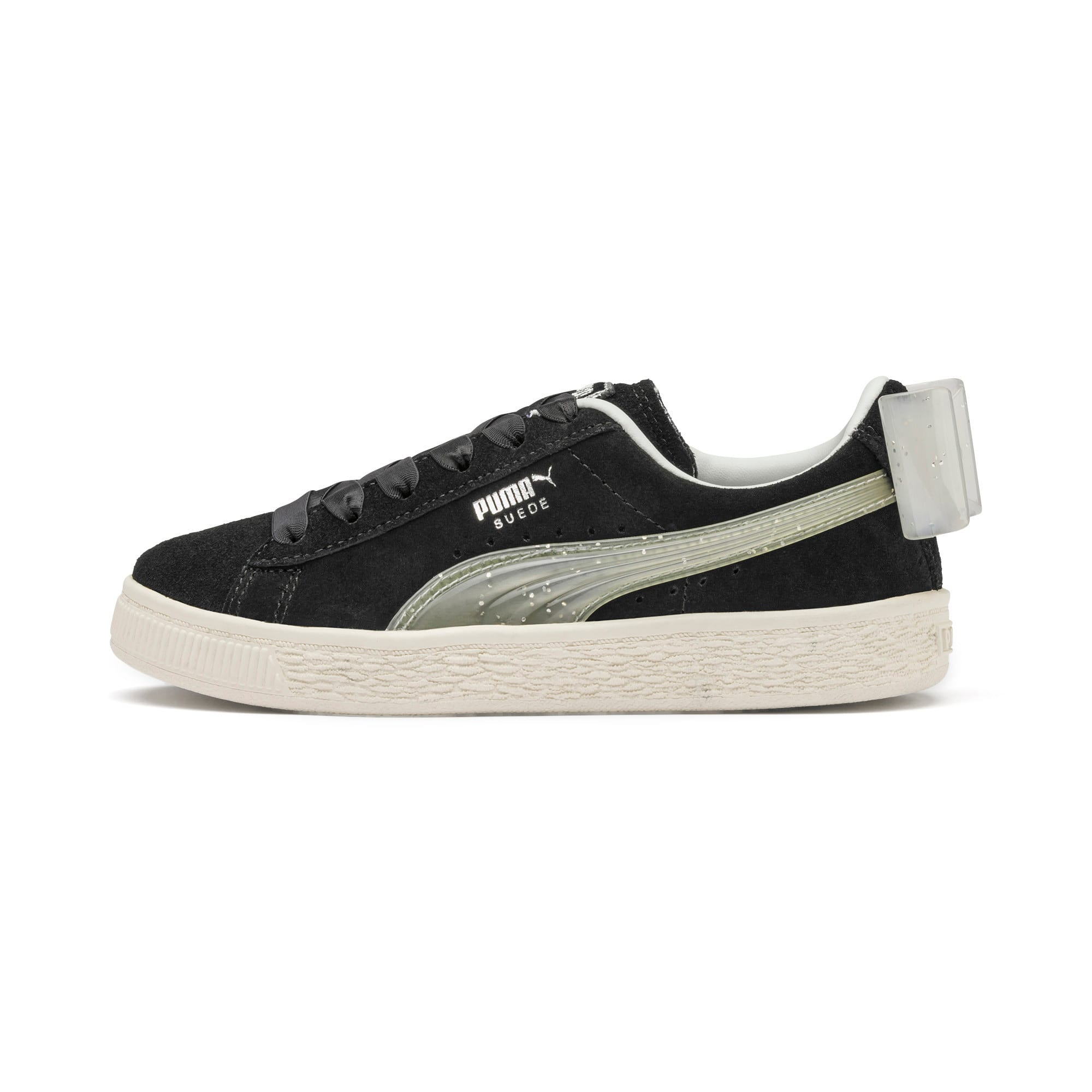 Miniatura 1 de Zapatos Suede Jelly Bow AC para niños, Puma Black-Glac Gray-Silver, mediano