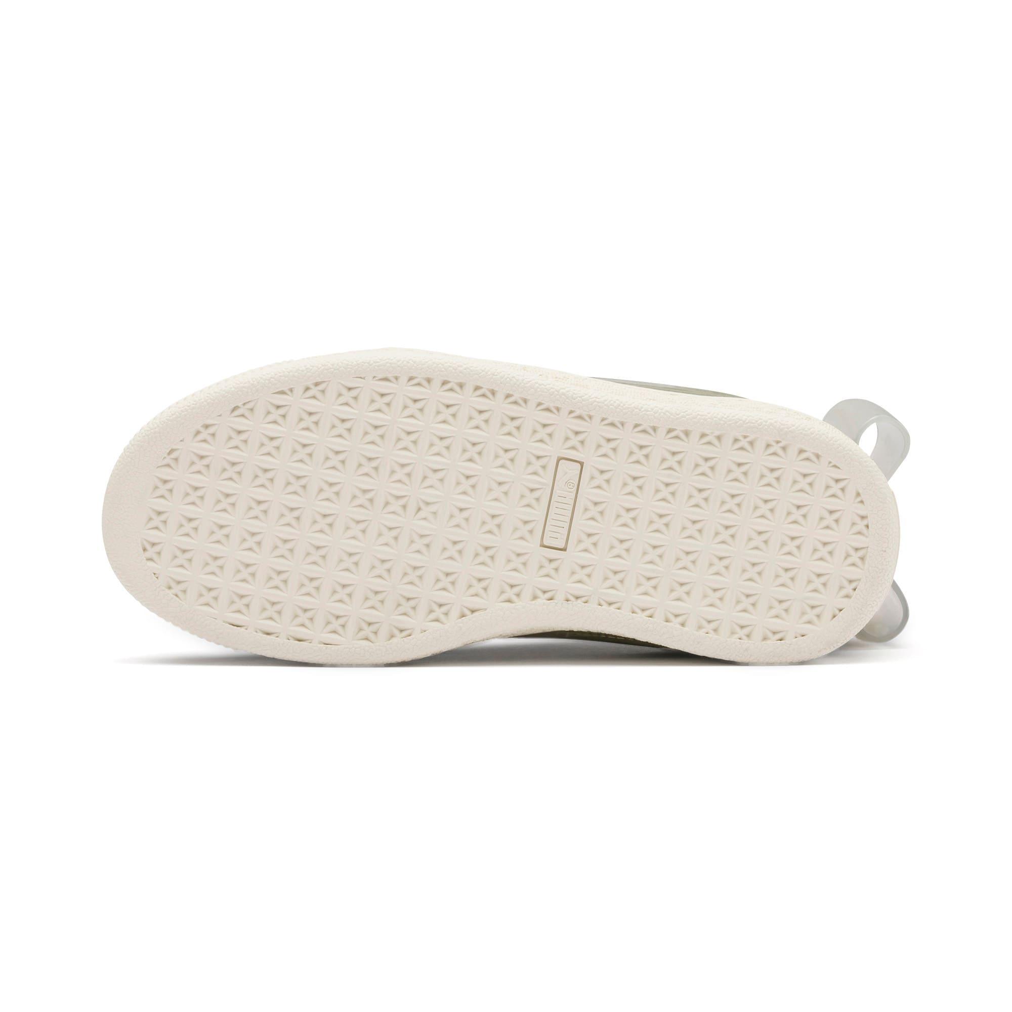 Miniatura 4 de Zapatos Suede Jelly Bow AC para niños, Puma Black-Glac Gray-Silver, mediano