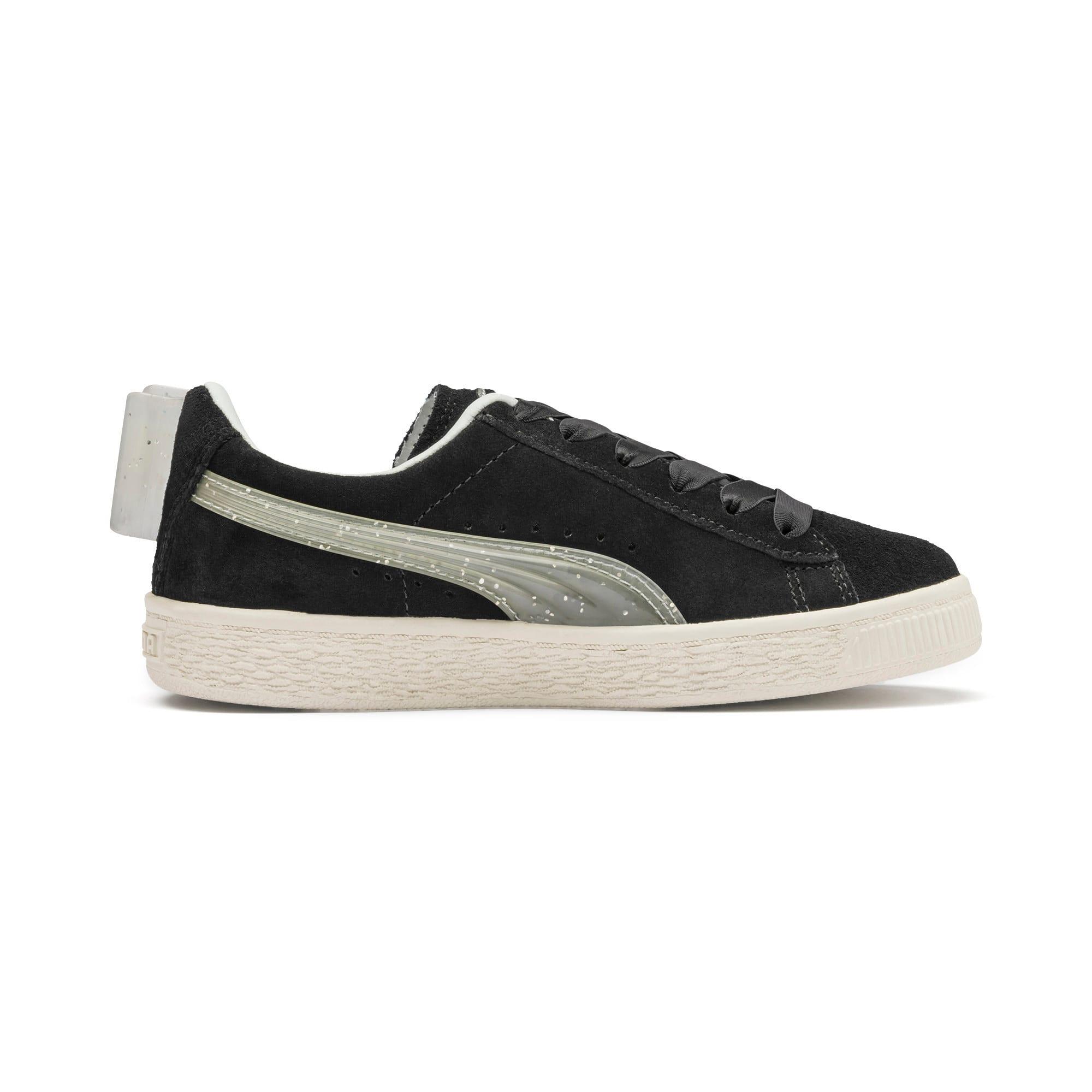 Miniatura 5 de Zapatos Suede Jelly Bow AC para niños, Puma Black-Glac Gray-Silver, mediano