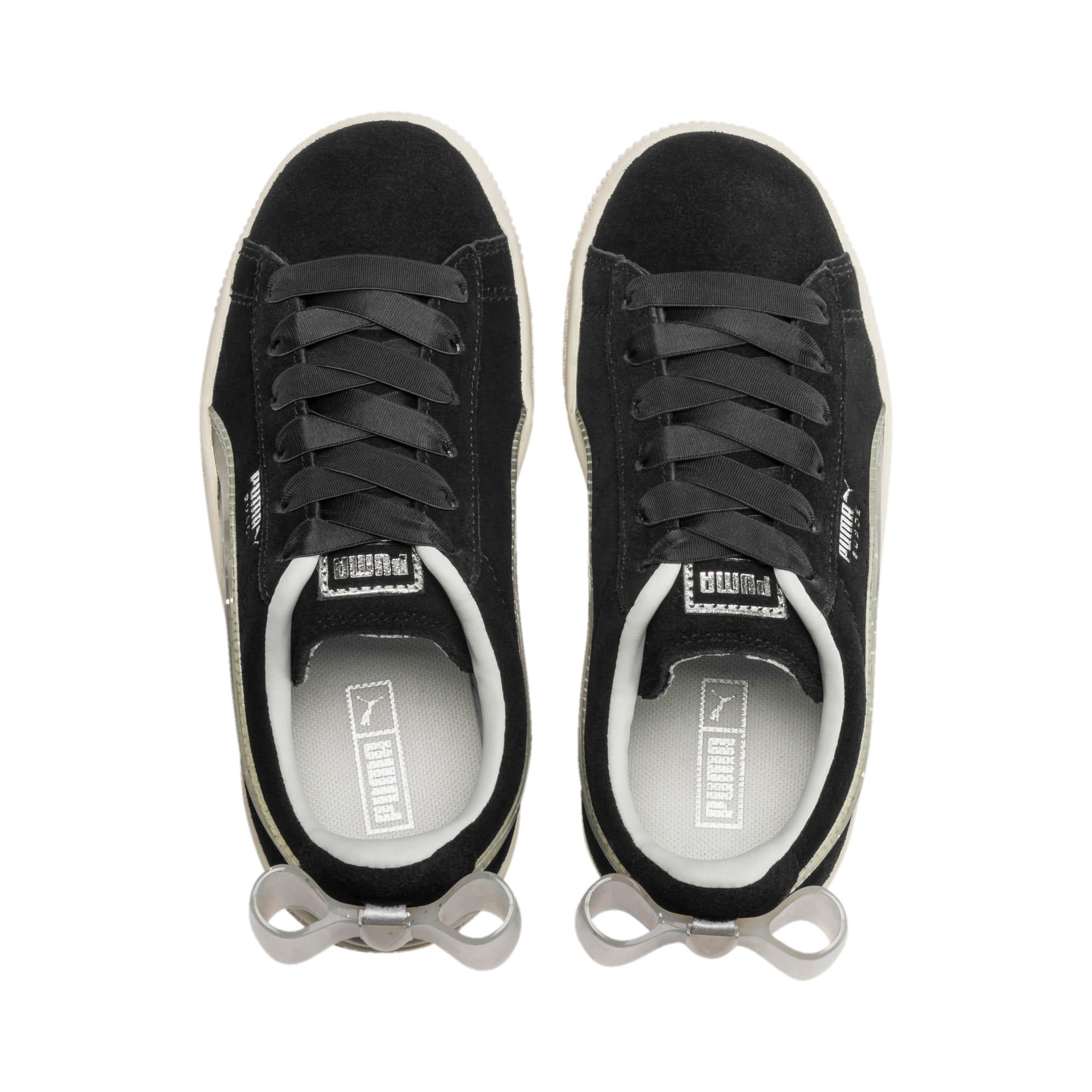 Miniatura 6 de Zapatos Suede Jelly Bow AC para niños, Puma Black-Glac Gray-Silver, mediano