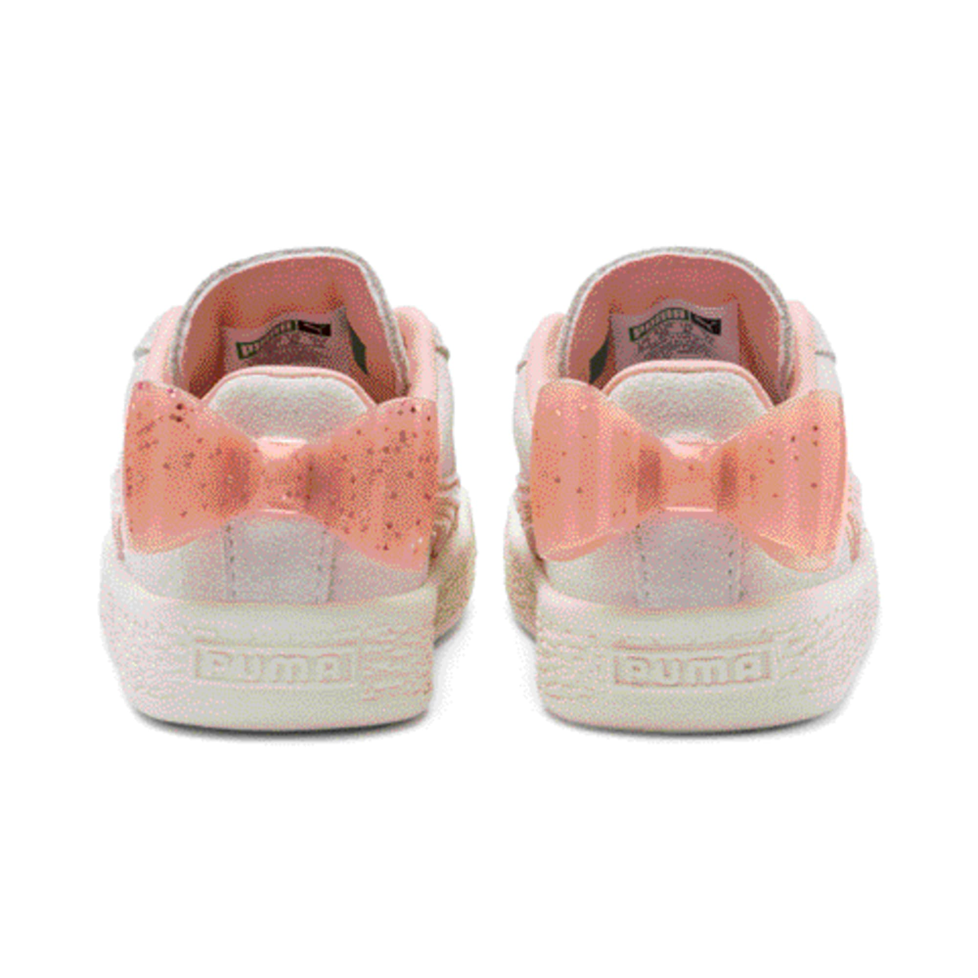 Miniatura 3 de Zapatos Suede Jelly Bow AC para bebé, White-Peach Bud-Silver, mediano
