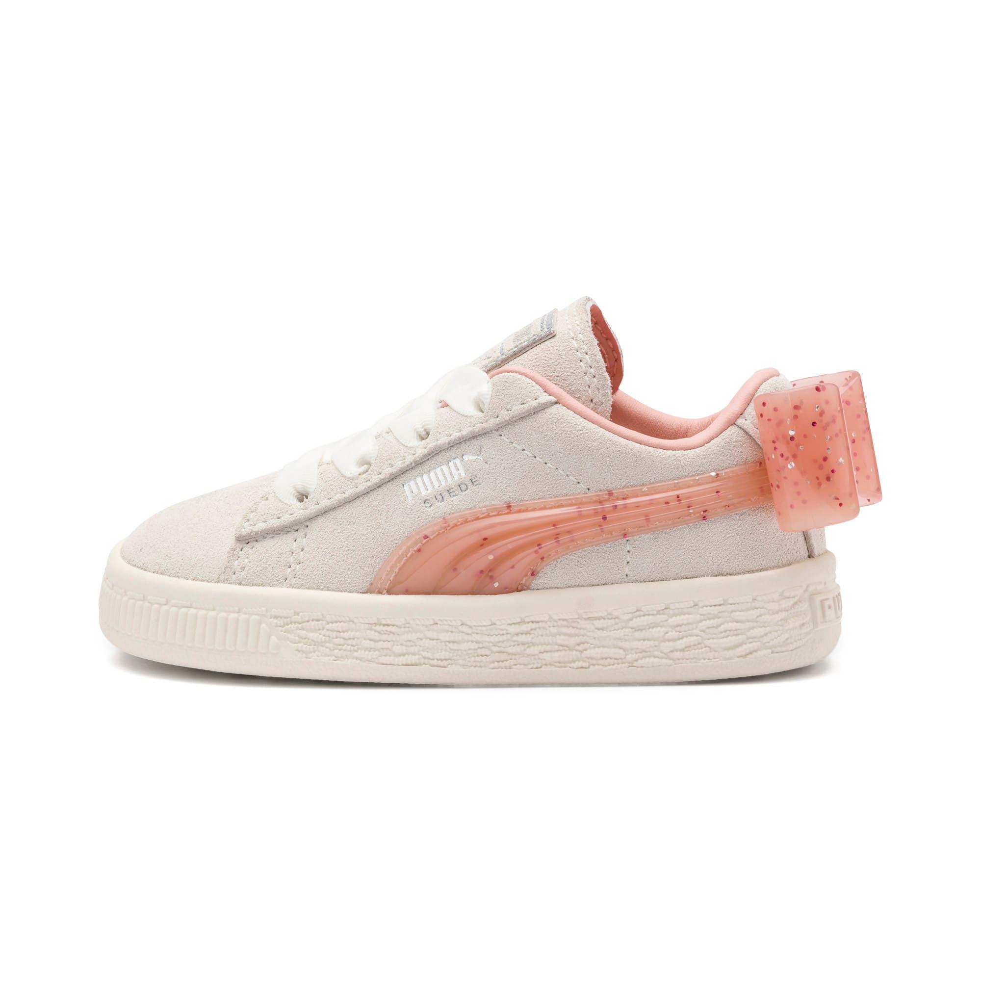 Miniatura 1 de Zapatos Suede Jelly Bow AC para bebé, White-Peach Bud-Silver, mediano