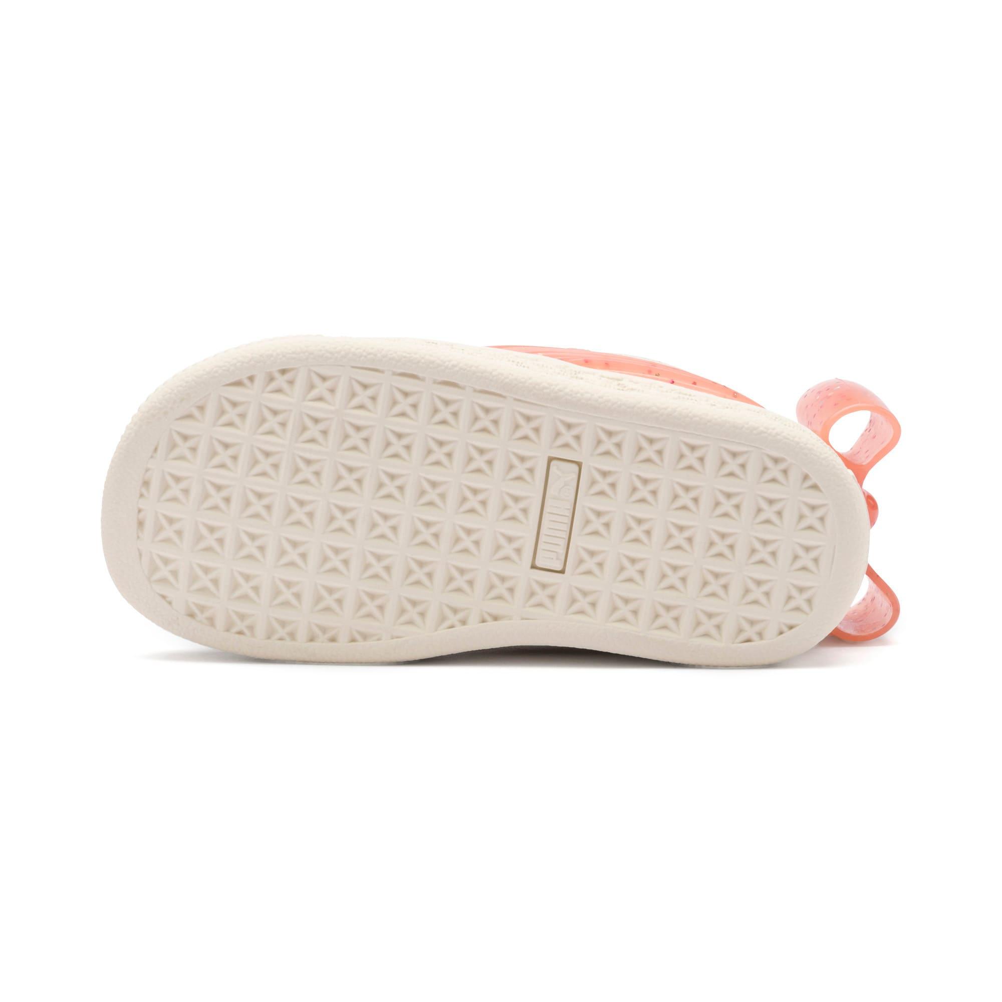 Miniatura 4 de Zapatos Suede Jelly Bow AC para bebé, White-Peach Bud-Silver, mediano