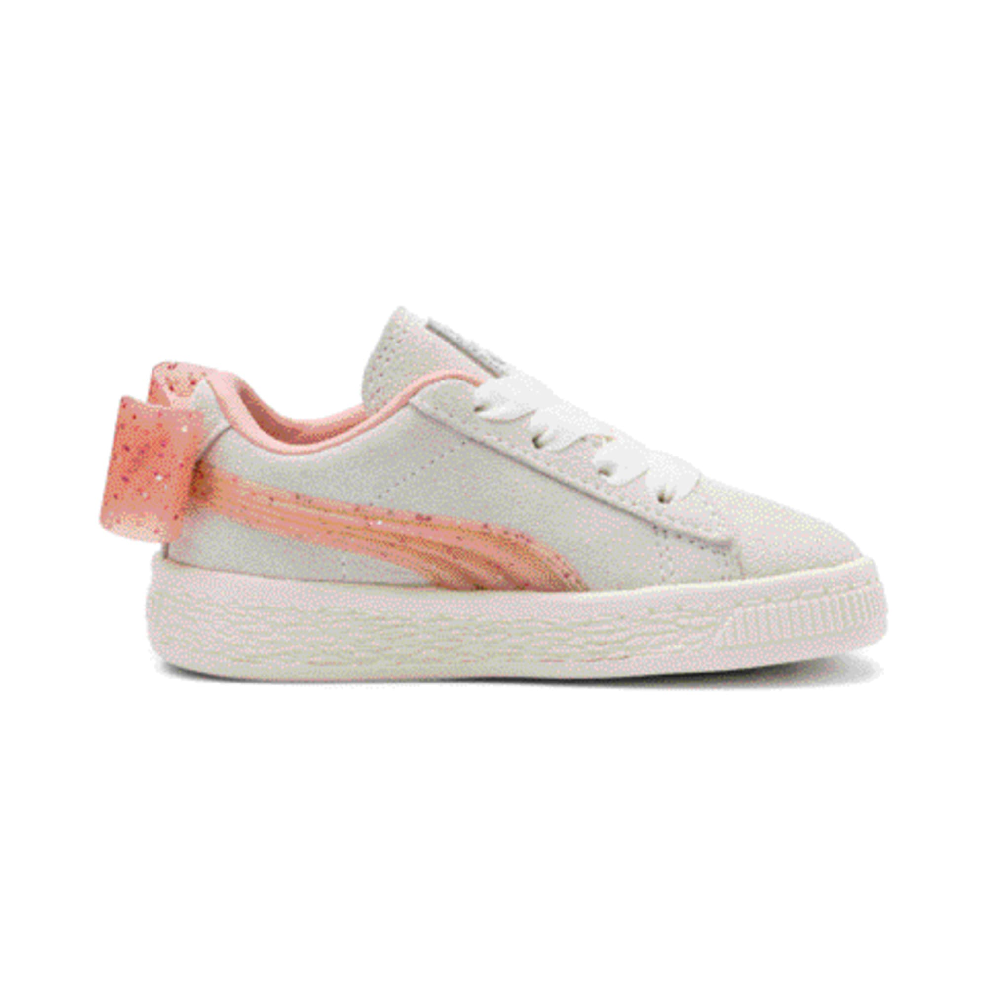 Miniatura 5 de Zapatos Suede Jelly Bow AC para bebé, White-Peach Bud-Silver, mediano