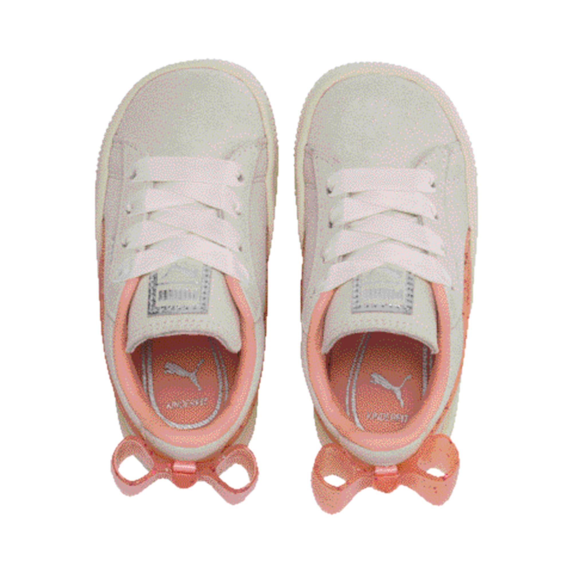 Miniatura 6 de Zapatos Suede Jelly Bow AC para bebé, White-Peach Bud-Silver, mediano