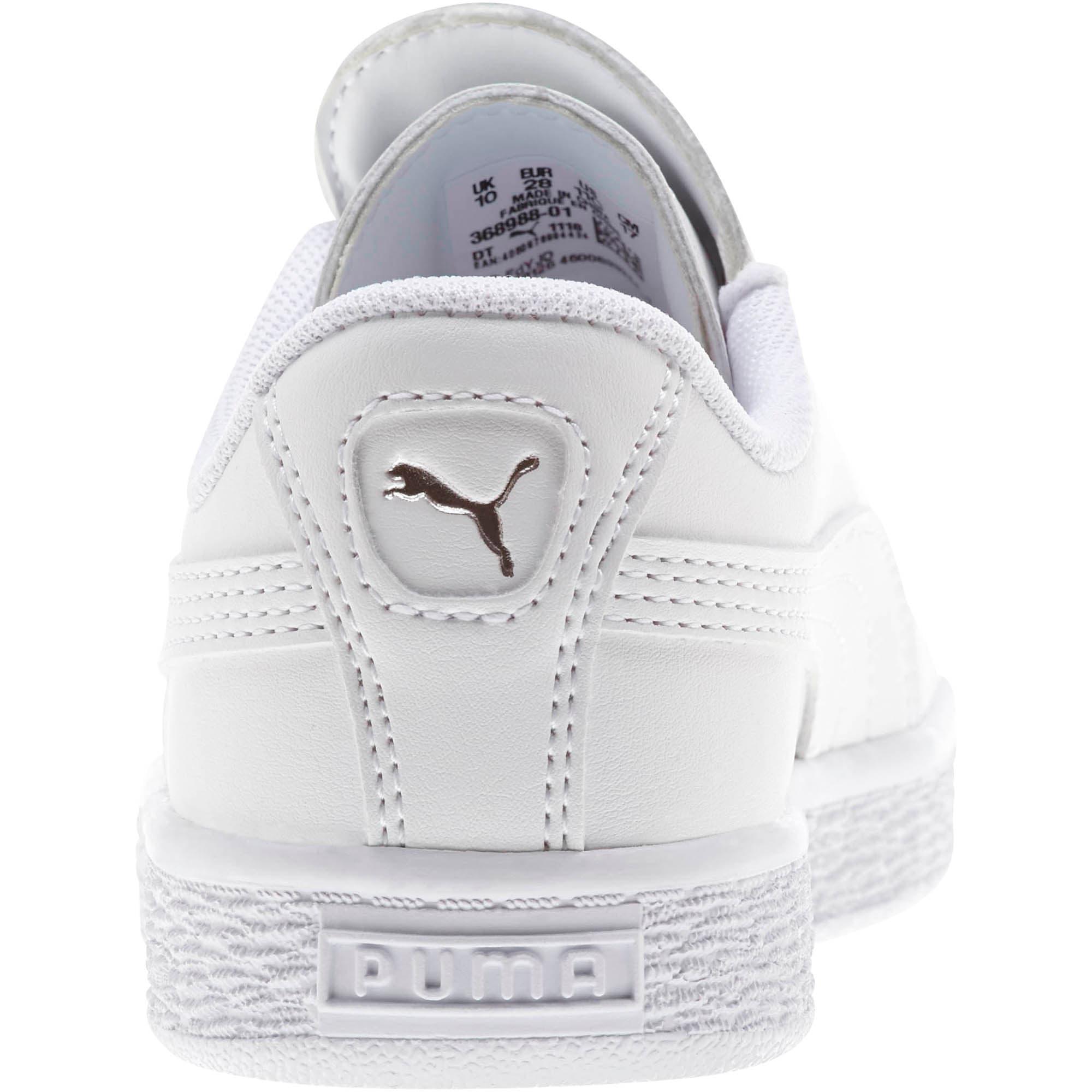 Miniatura 3 de Zapatos Basket Crush AC para niños, Puma White-Puma Silver, mediano