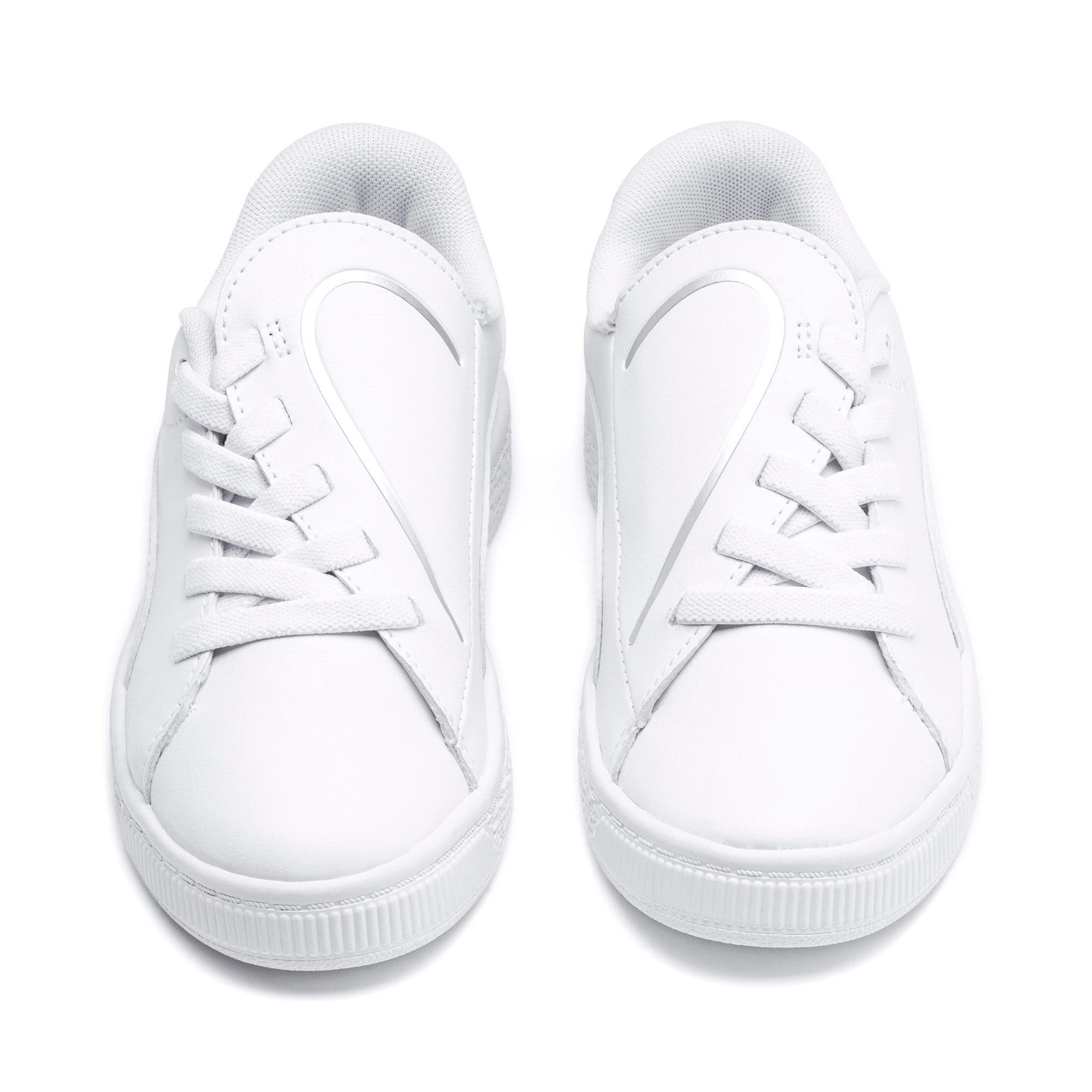 Miniatura 7 de Zapatos Basket Crush AC para niños, Puma White-Puma Silver, mediano