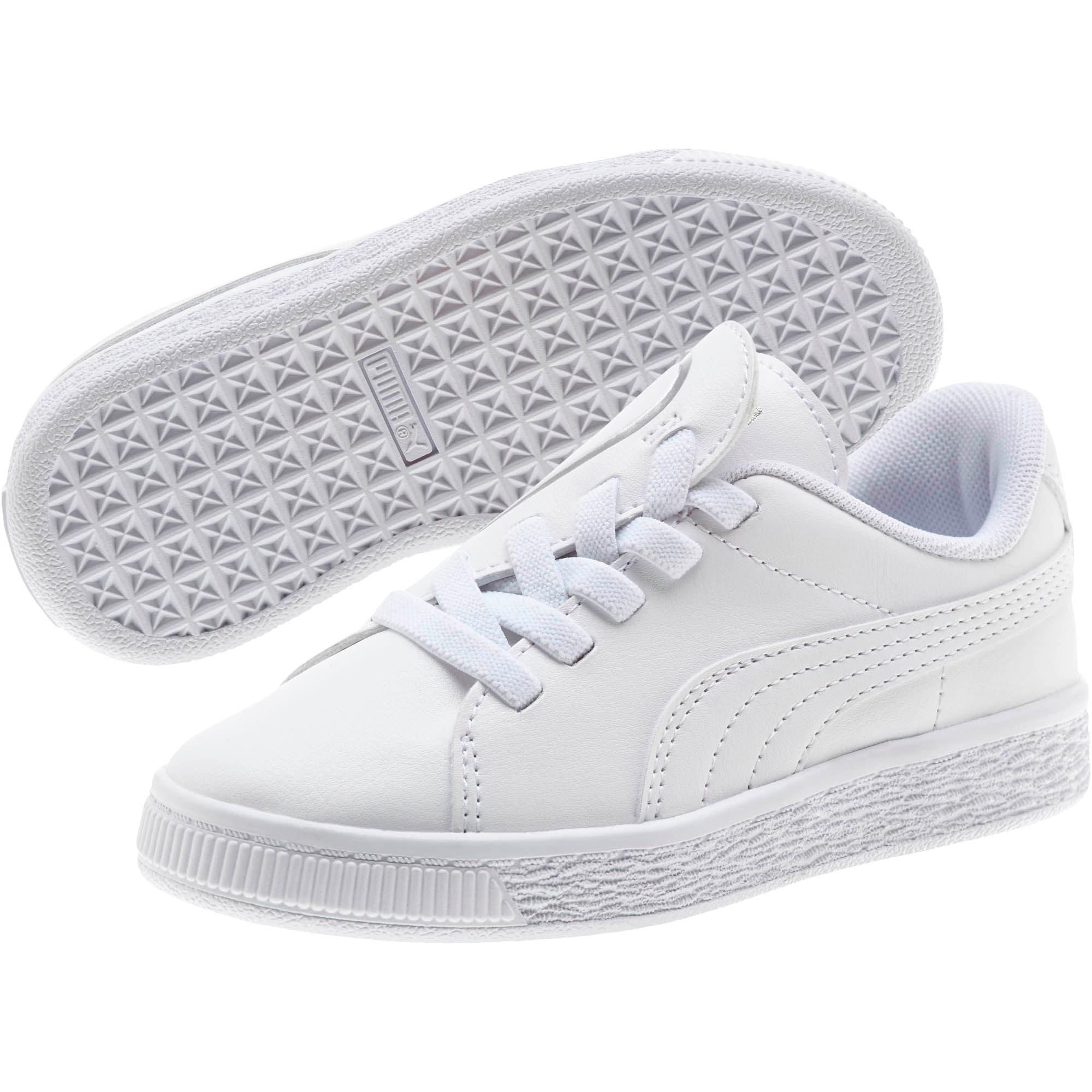 Miniatura 2 de Zapatos Basket Crush AC para niños, Puma White-Puma Silver, mediano