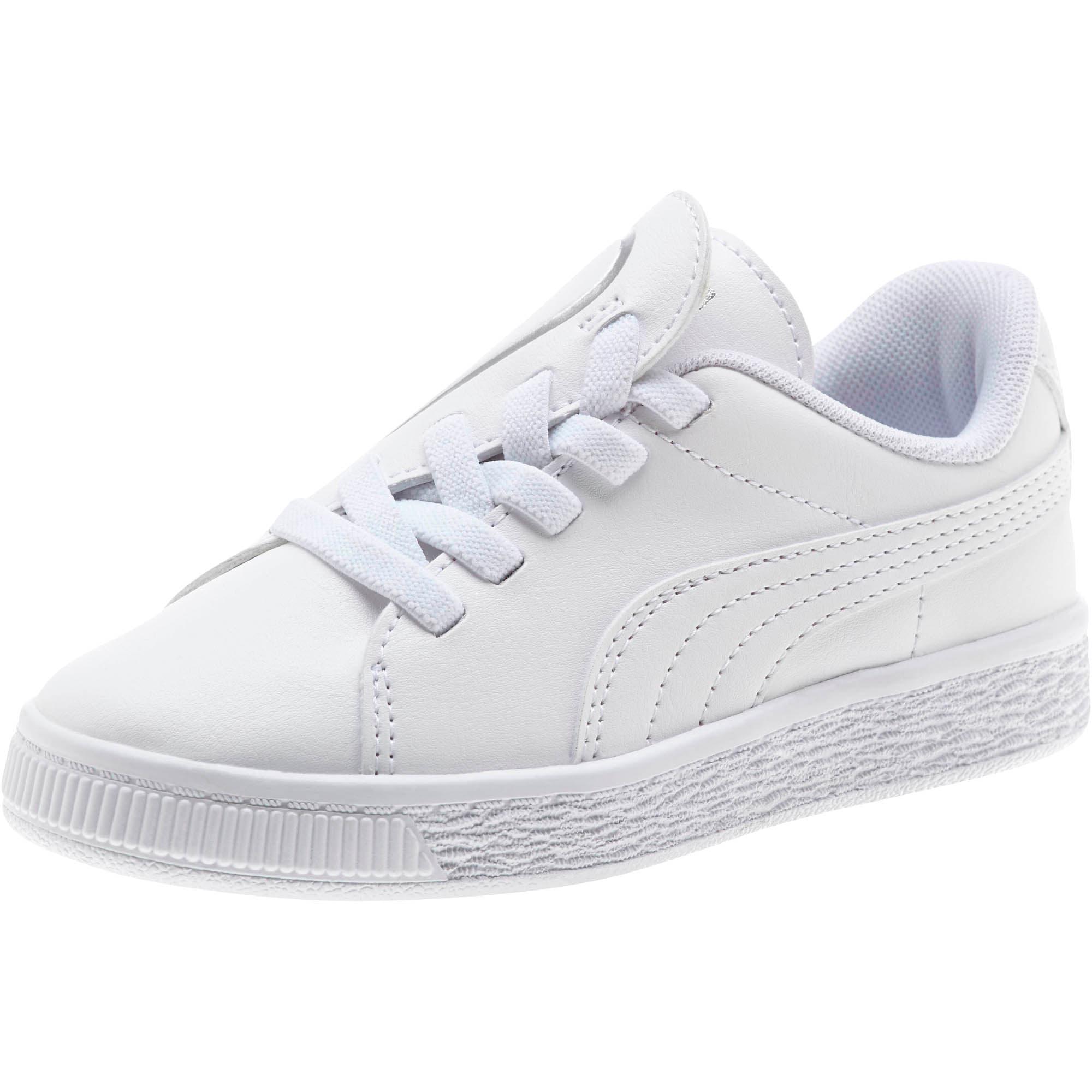 Miniatura 1 de Zapatos Basket Crush AC para niños, Puma White-Puma Silver, mediano
